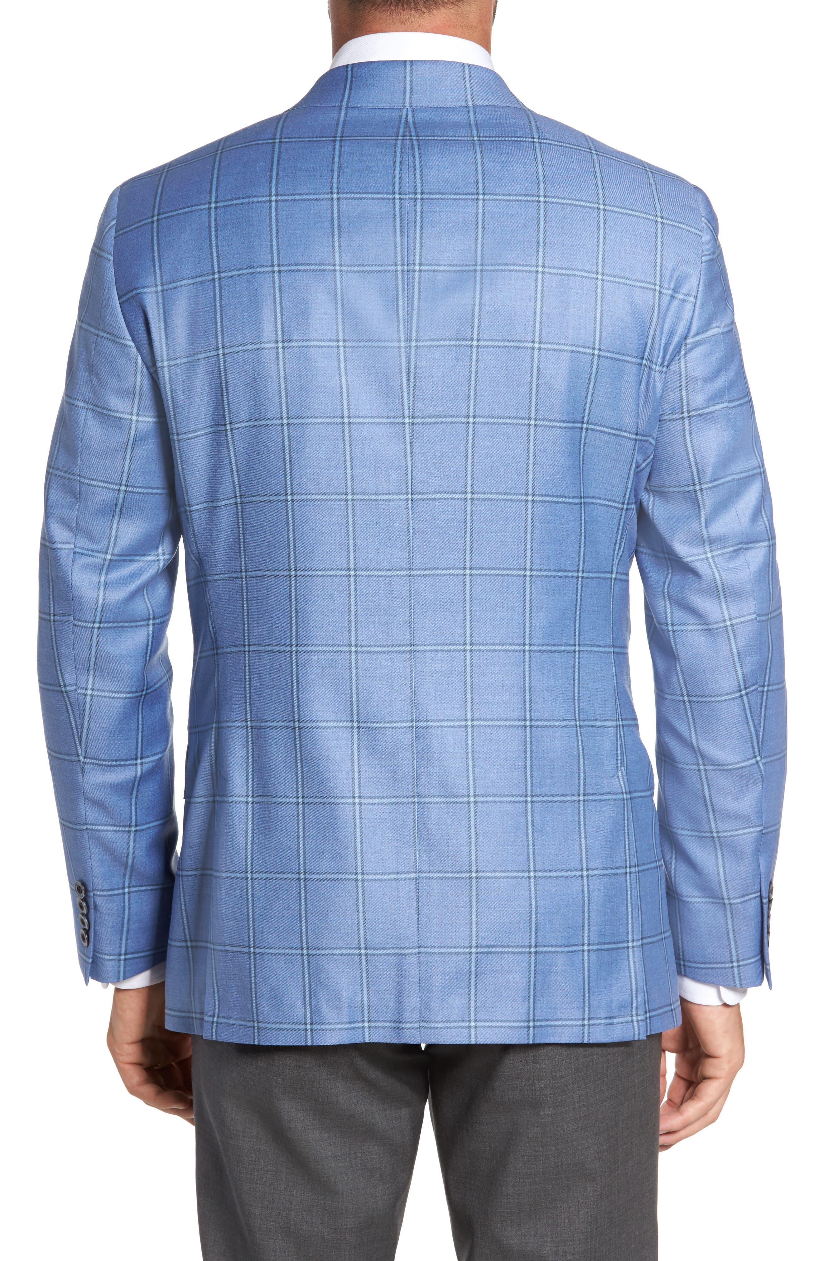 Classic Fit Windowpane Wool Sport Coat,                             Alternate thumbnail 2, color,                             Light Blue