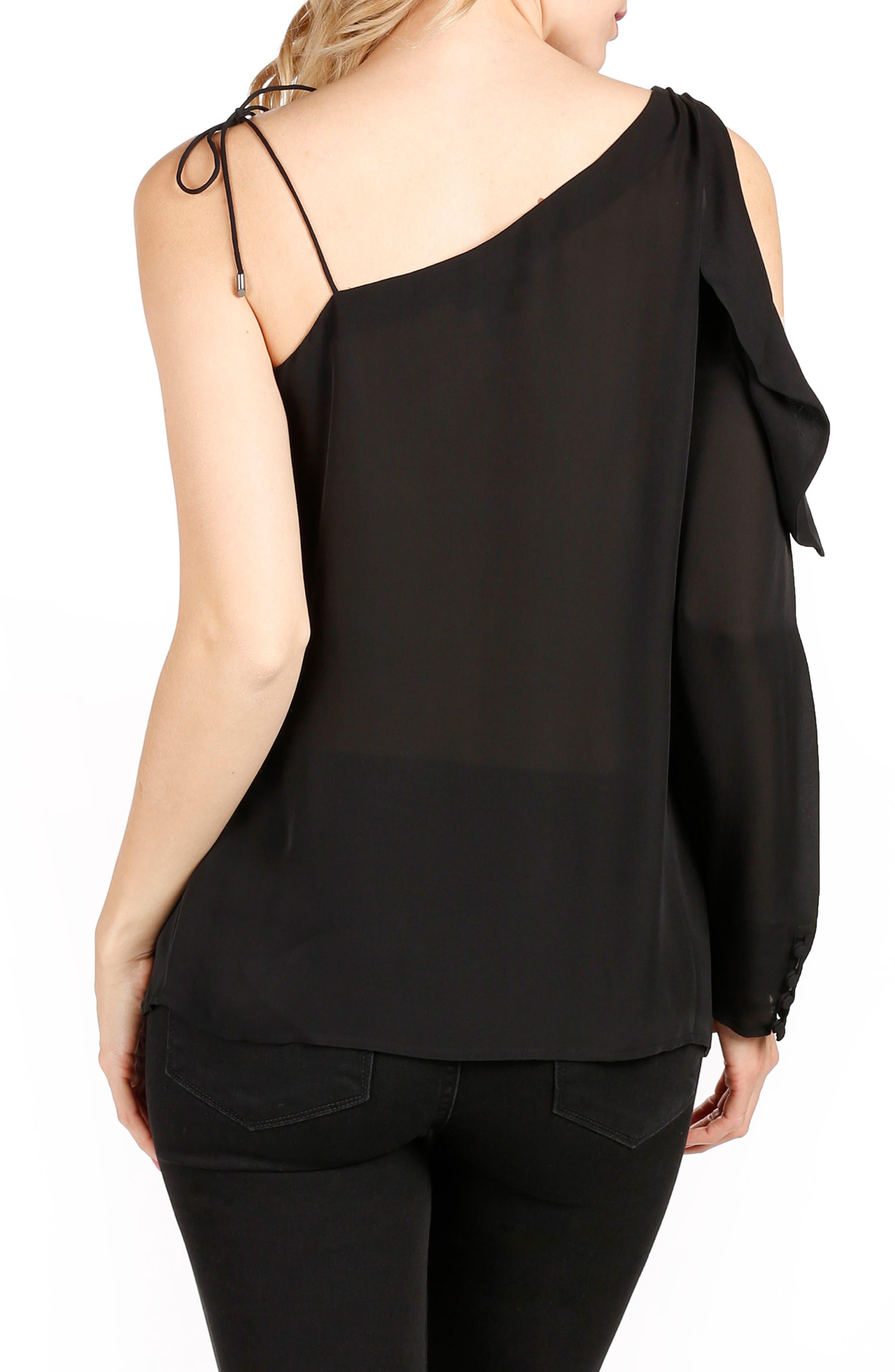 Alternate Image 2  - PAIGE Florentina One-Shoulder Silk Top