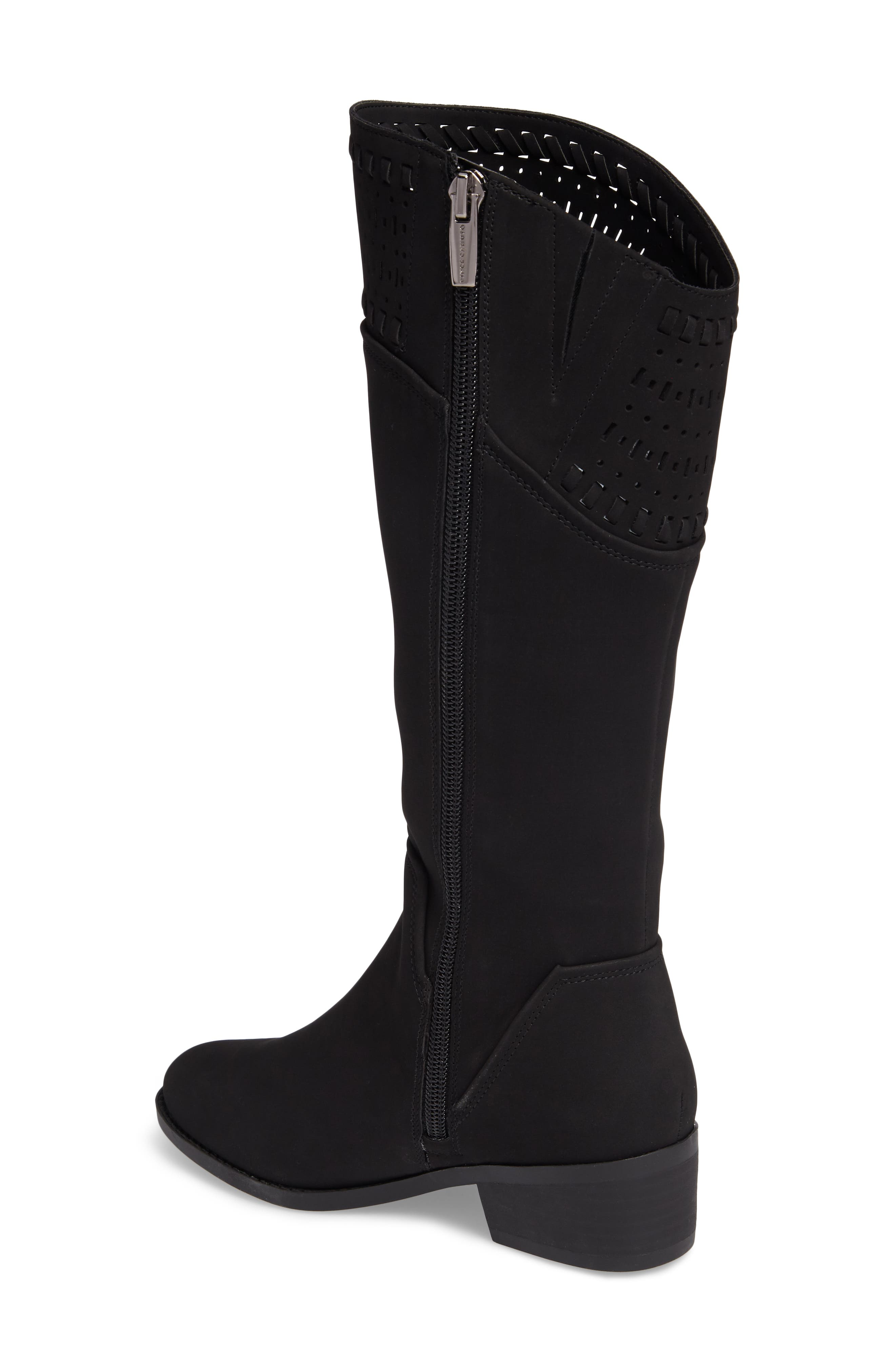 Blysse Woven Tall Boot,                             Alternate thumbnail 2, color,                             Black Suede