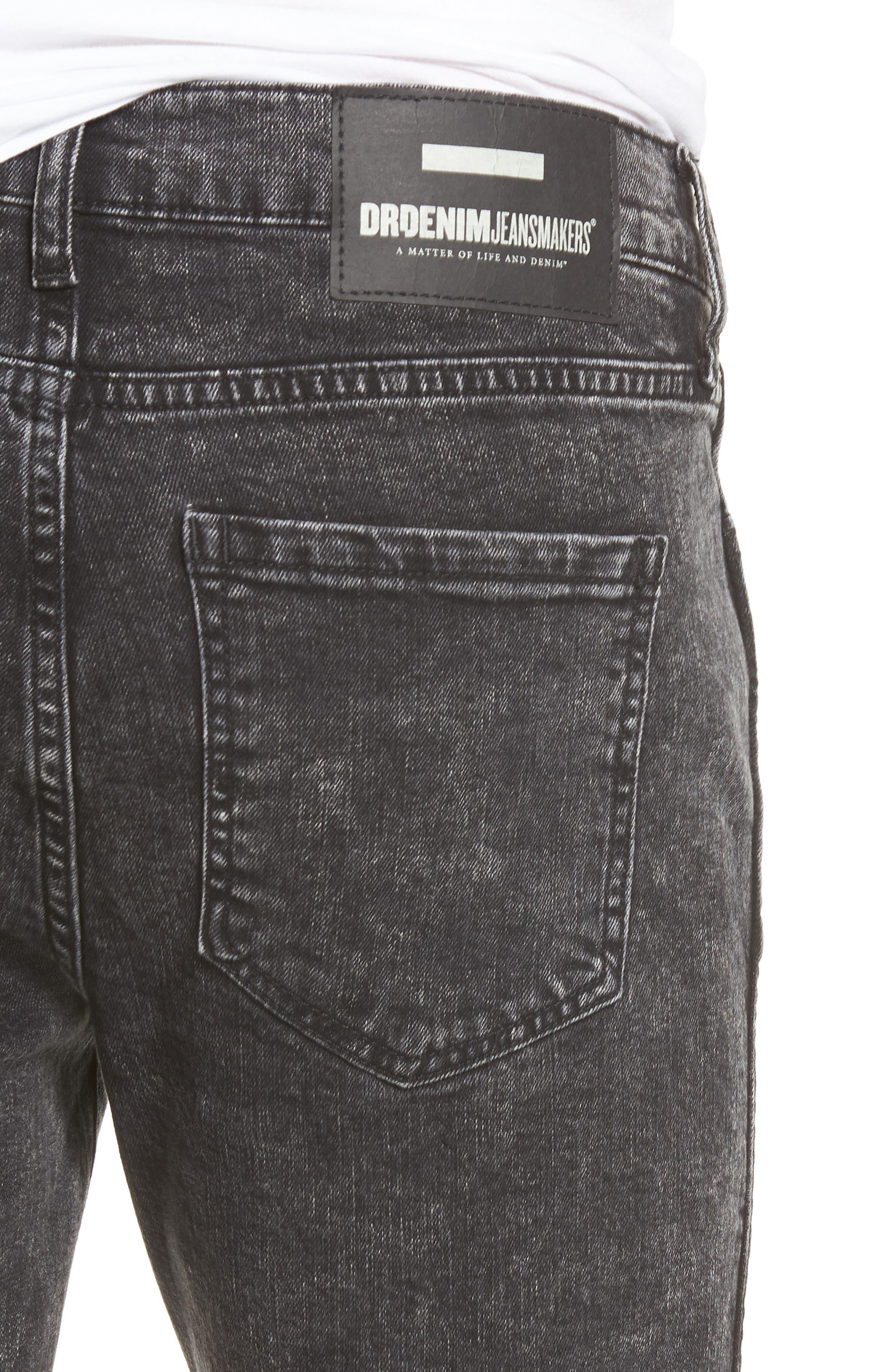 Alternate Image 4  - Dr. Denim Supply Co. Snap Skinny Fit Jeans (Acid Black)