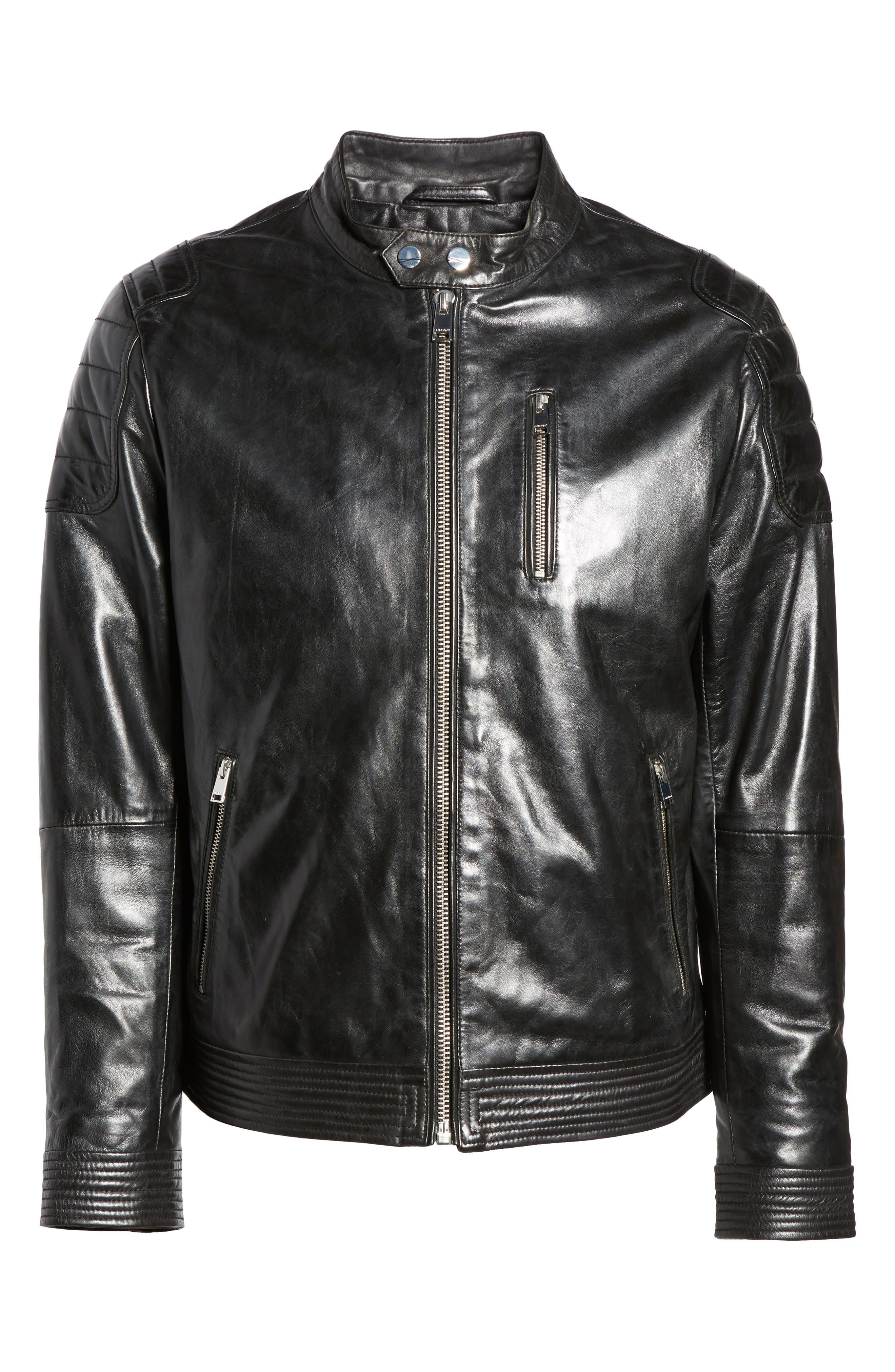 Alternate Image 6  - LAMARQUE Leather Moto Jacket