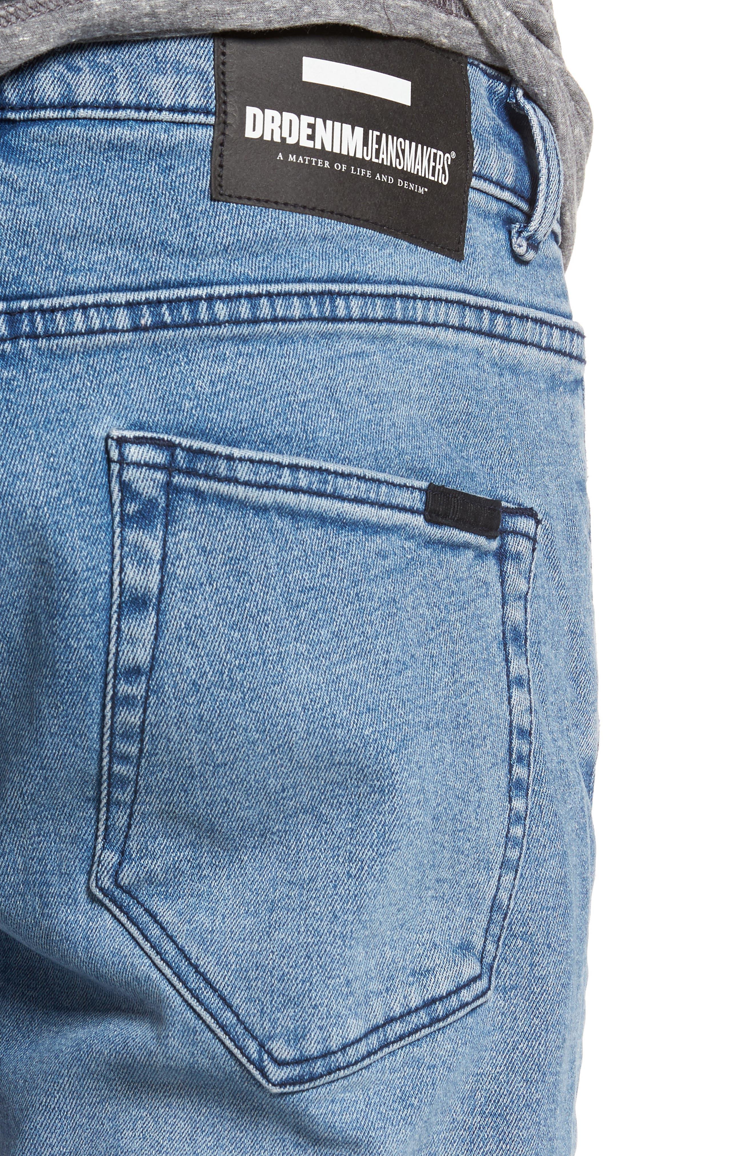 Alternate Image 4  - Dr. Denim Supply Co. Clark Slim Straight Leg Jeans (Worn Light Retro)
