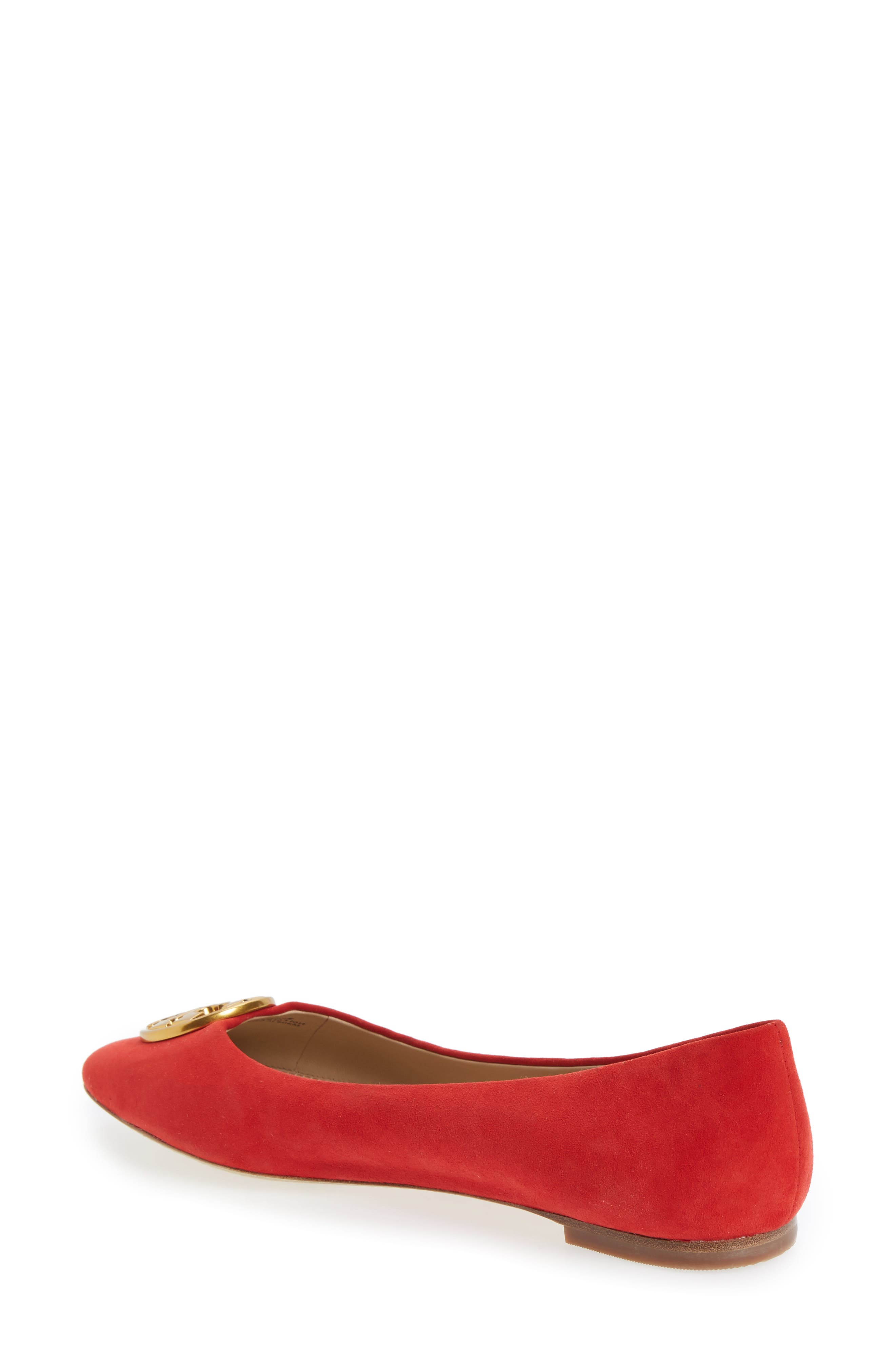 Chelsea Ballet Flat,                             Alternate thumbnail 2, color,                             Liberty Red