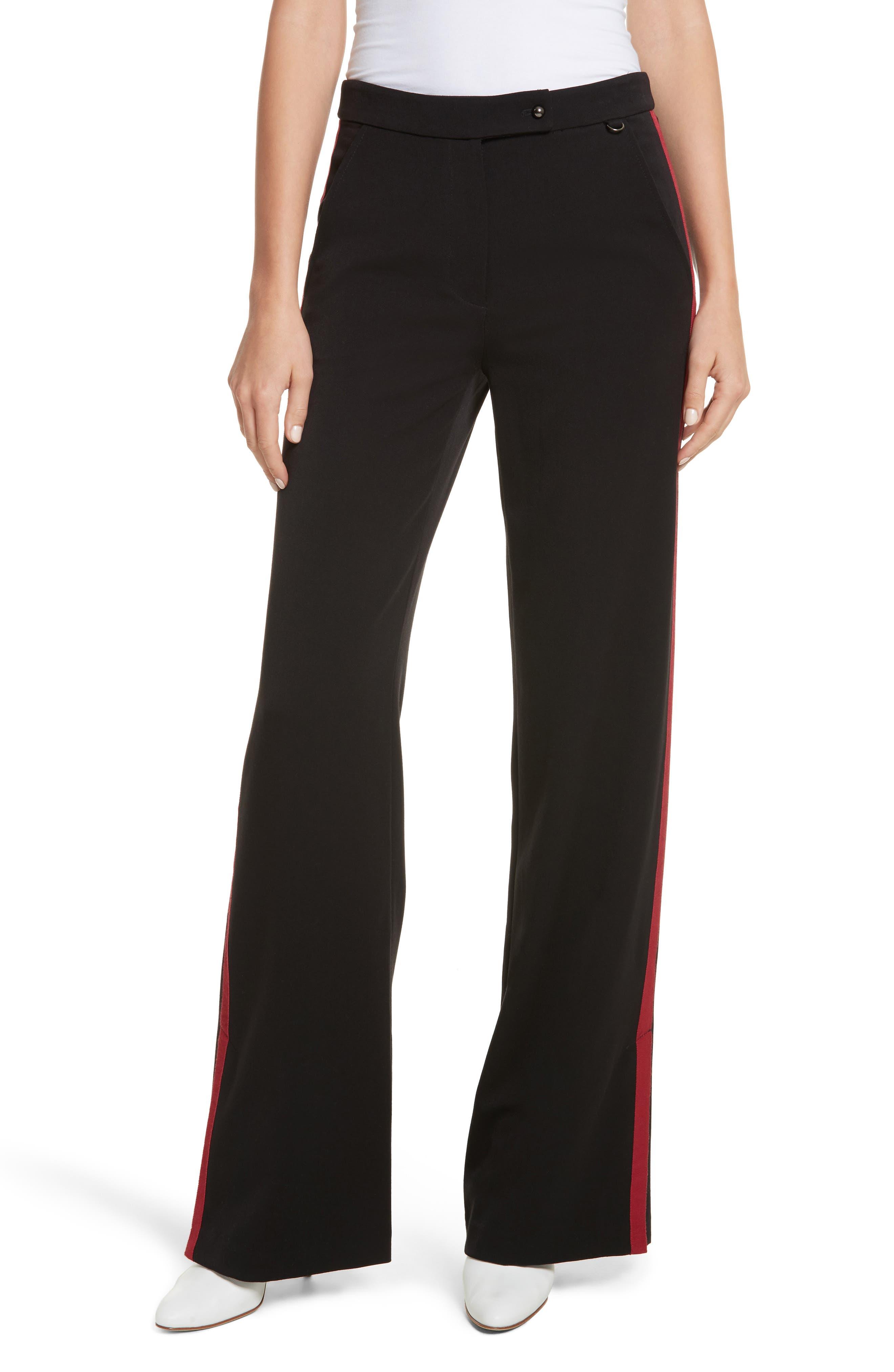 Side Vent Wide Leg Pants,                         Main,                         color, Black