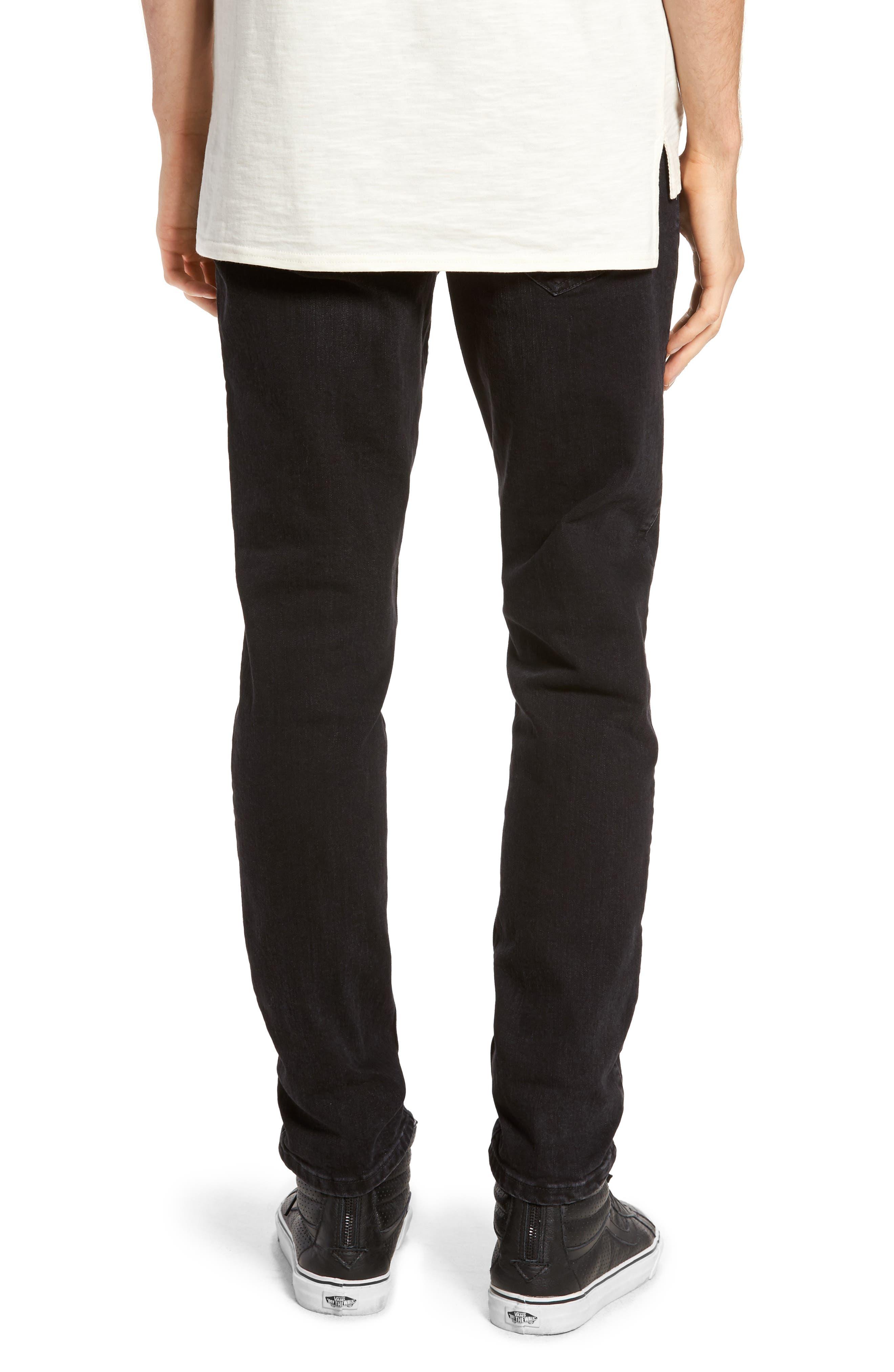 Clark Slim Straight Leg Jeans,                             Alternate thumbnail 2, color,                             Organic Worn Black