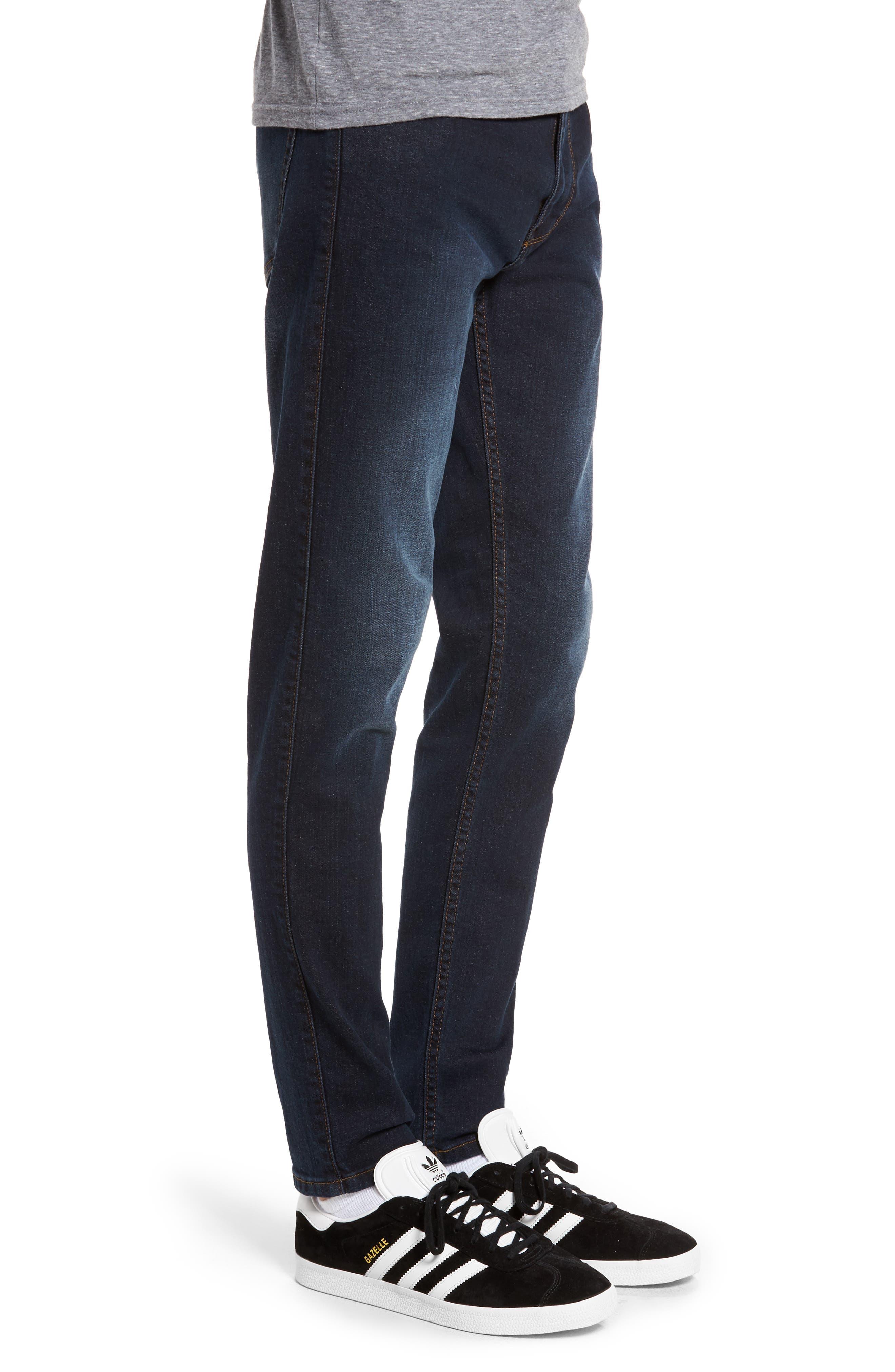 Clark Sim Straight Fit Jeans,                             Alternate thumbnail 3, color,                             Worn Dark Blue