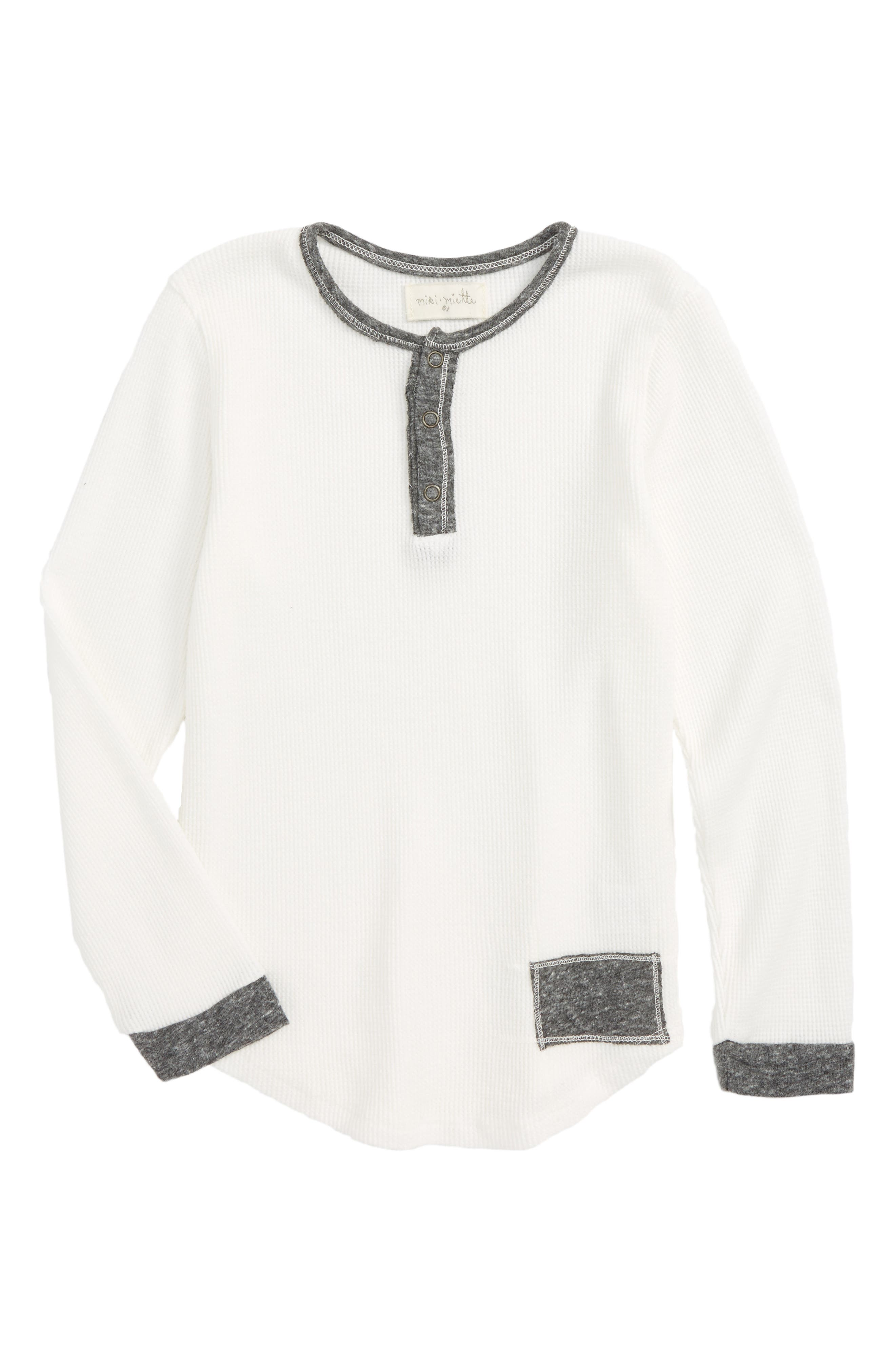 Parker Thermal Henley,                         Main,                         color, Rad White