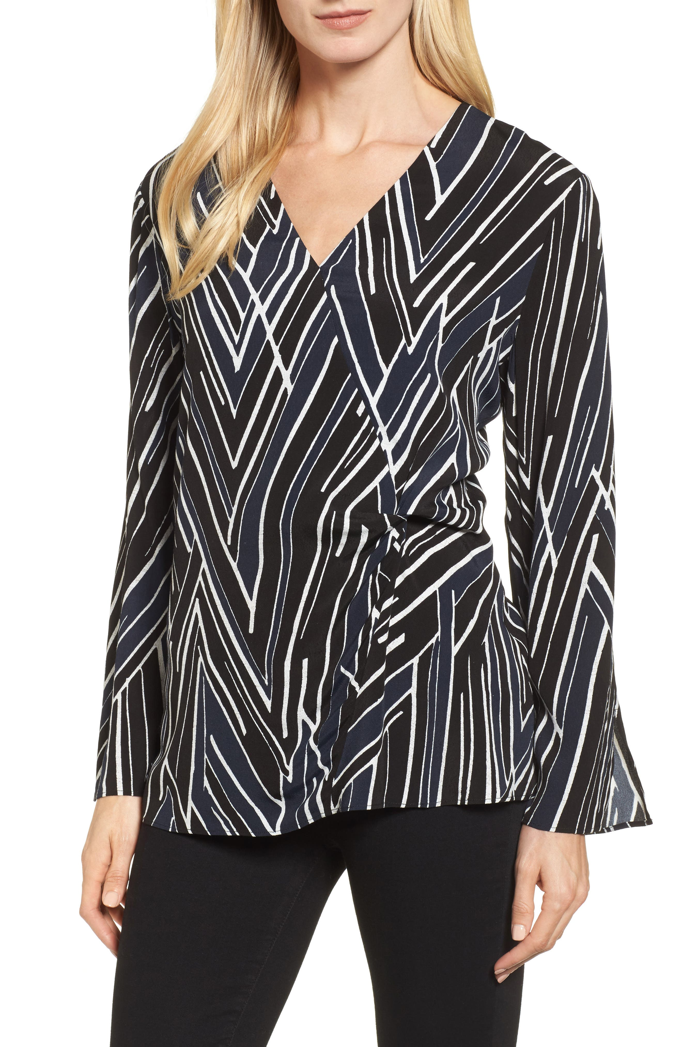 Bells and Whistles Top,                             Main thumbnail 1, color,                             Black Multi