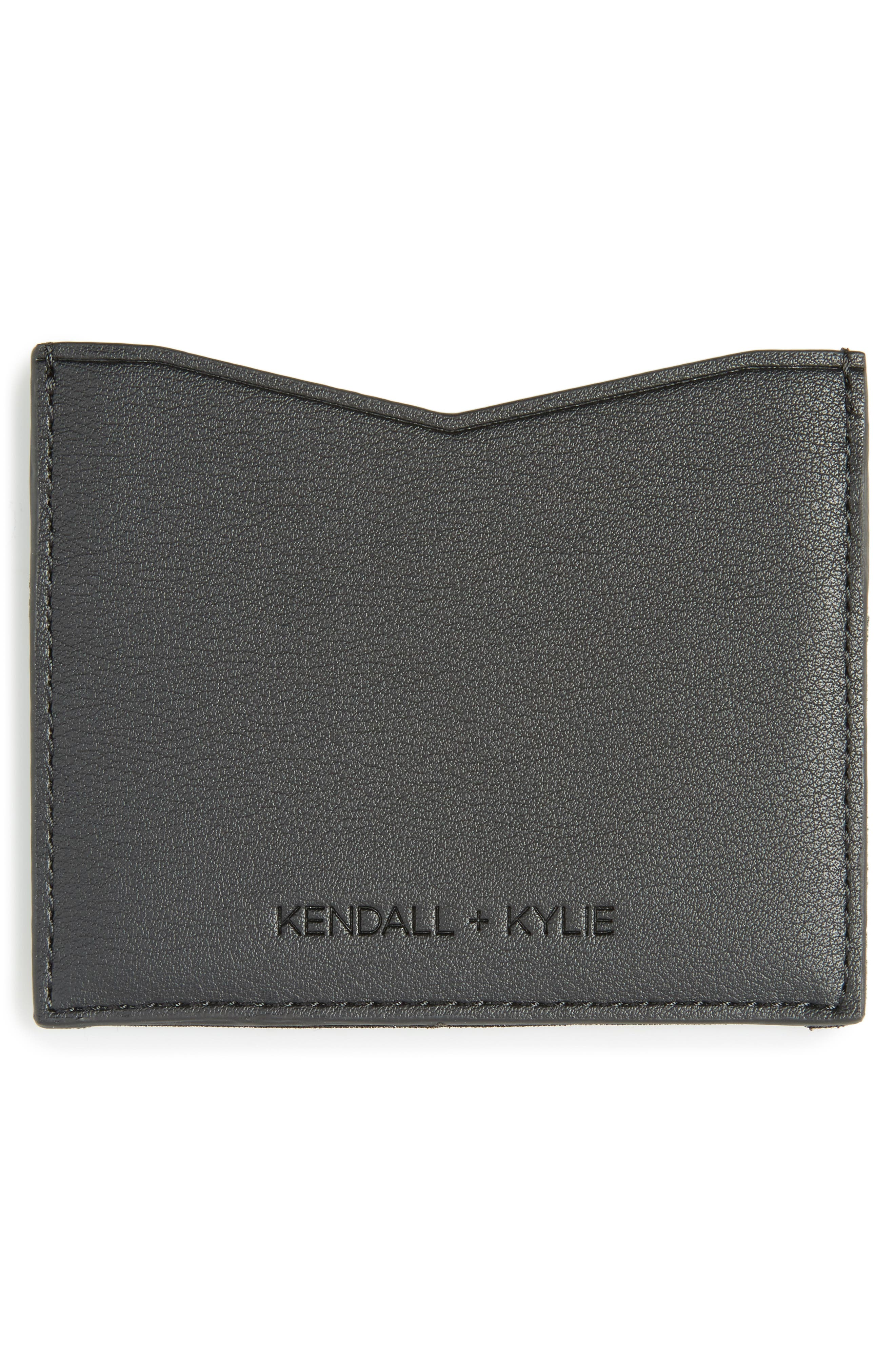 Alternate Image 2  - KENDALL + KYLIE Emma Sequin & Faux Leather Card Case