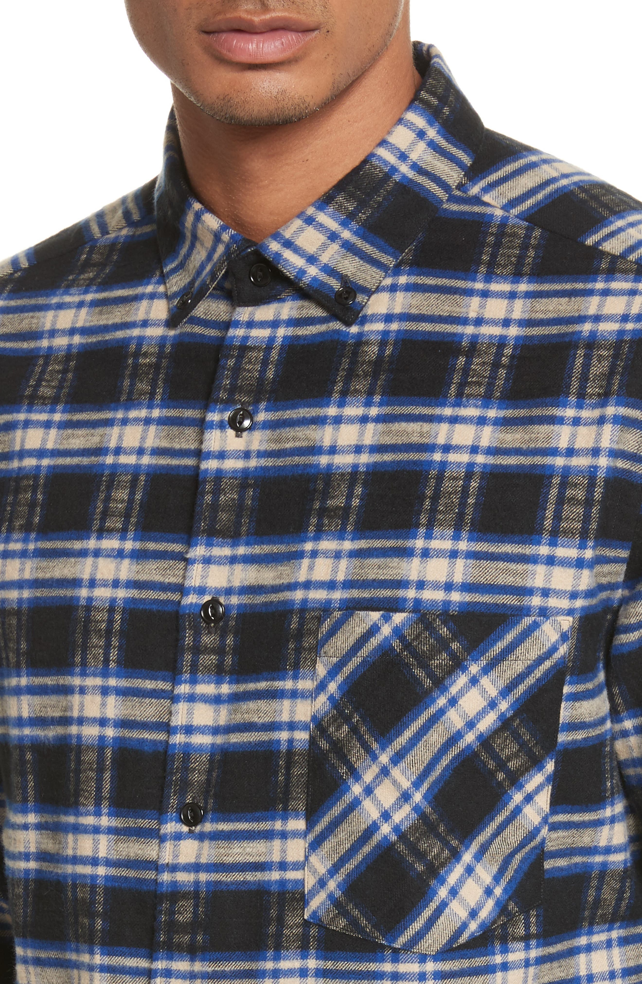 Alternate Image 4  - Tomorrowland Bradford Plaid Flannel Sport Shirt