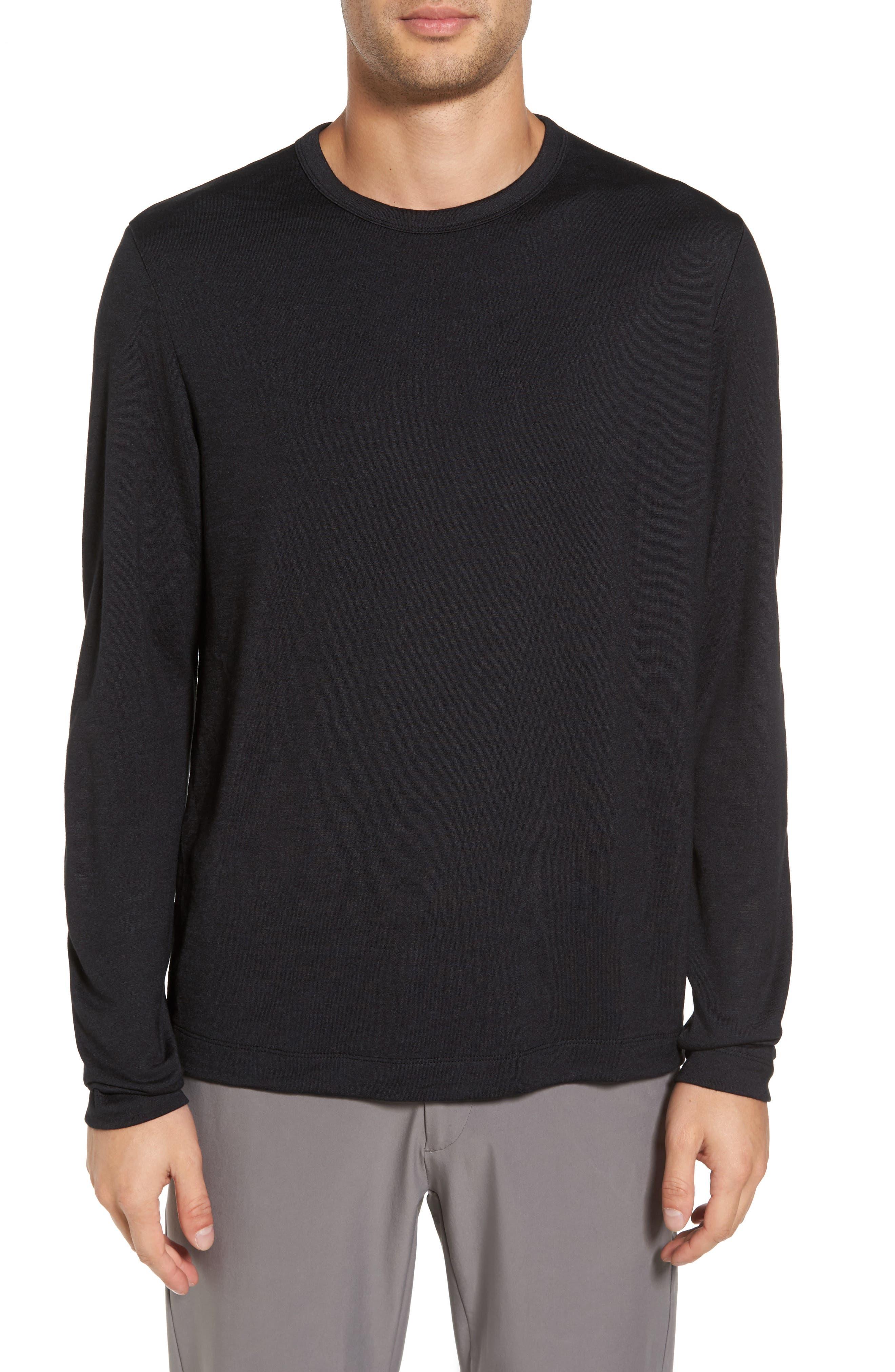 Long Sleeve T-Shirt,                         Main,                         color, Black