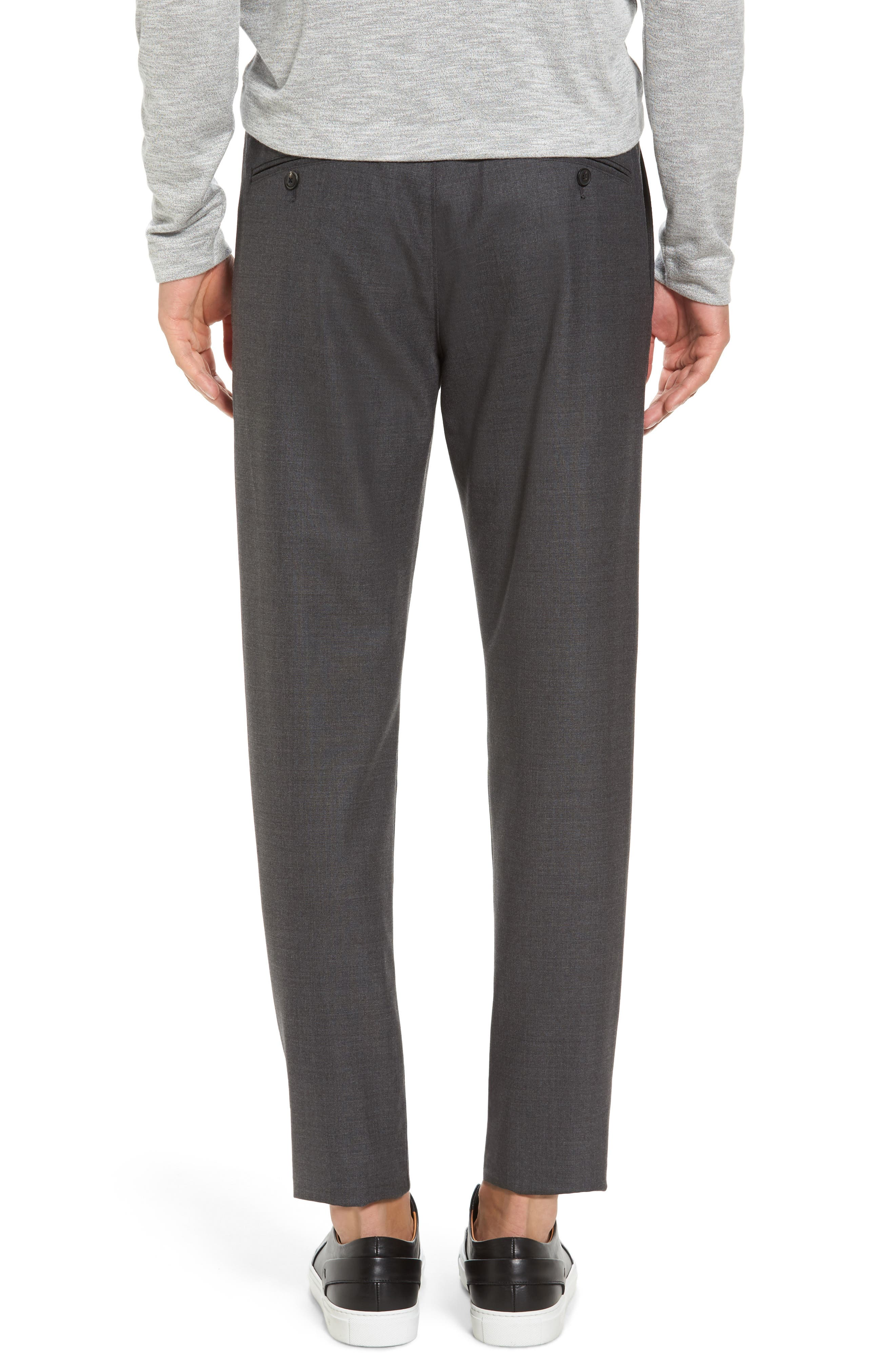 Zaine Gearheart Slim Straight Pants,                             Alternate thumbnail 2, color,                             Medium Charcoal