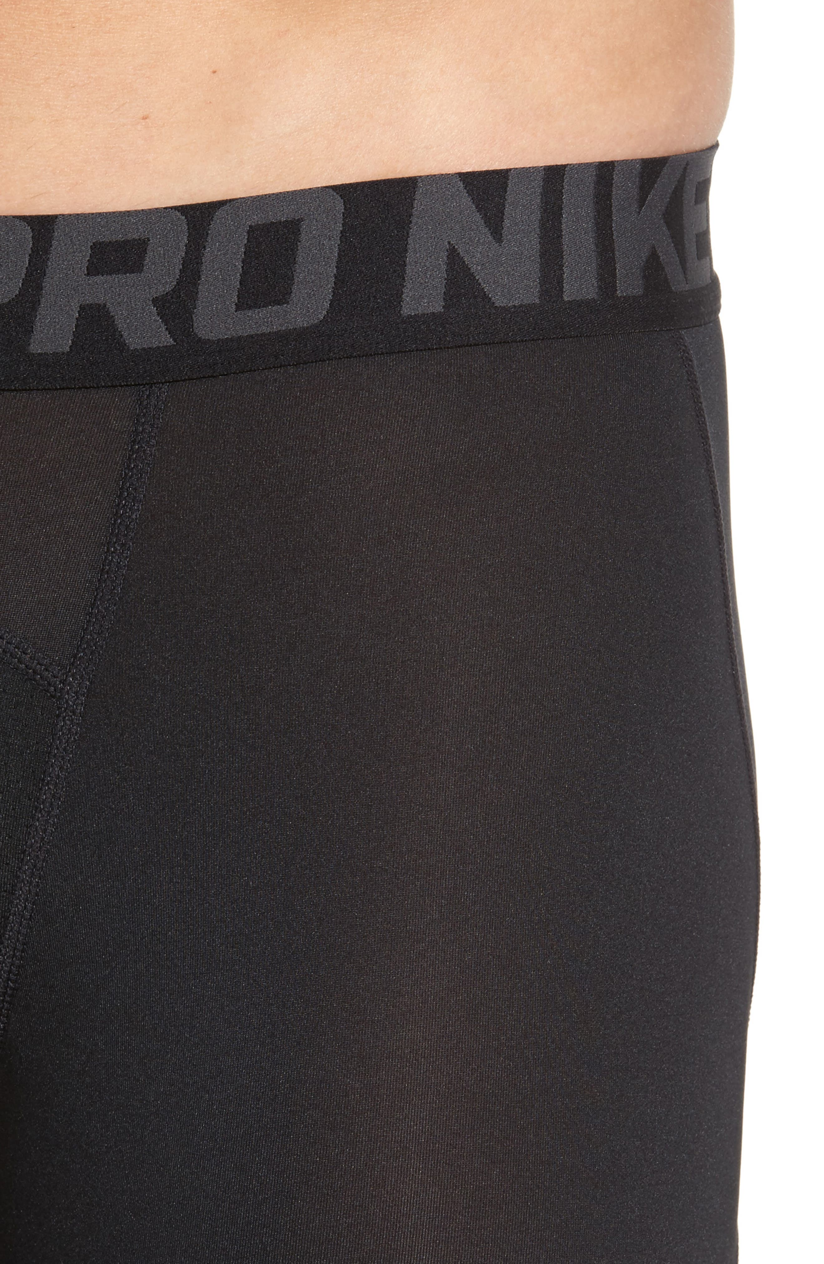 Pro Compression Shorts,                             Alternate thumbnail 4, color,                             Black/ Anthracite/ White