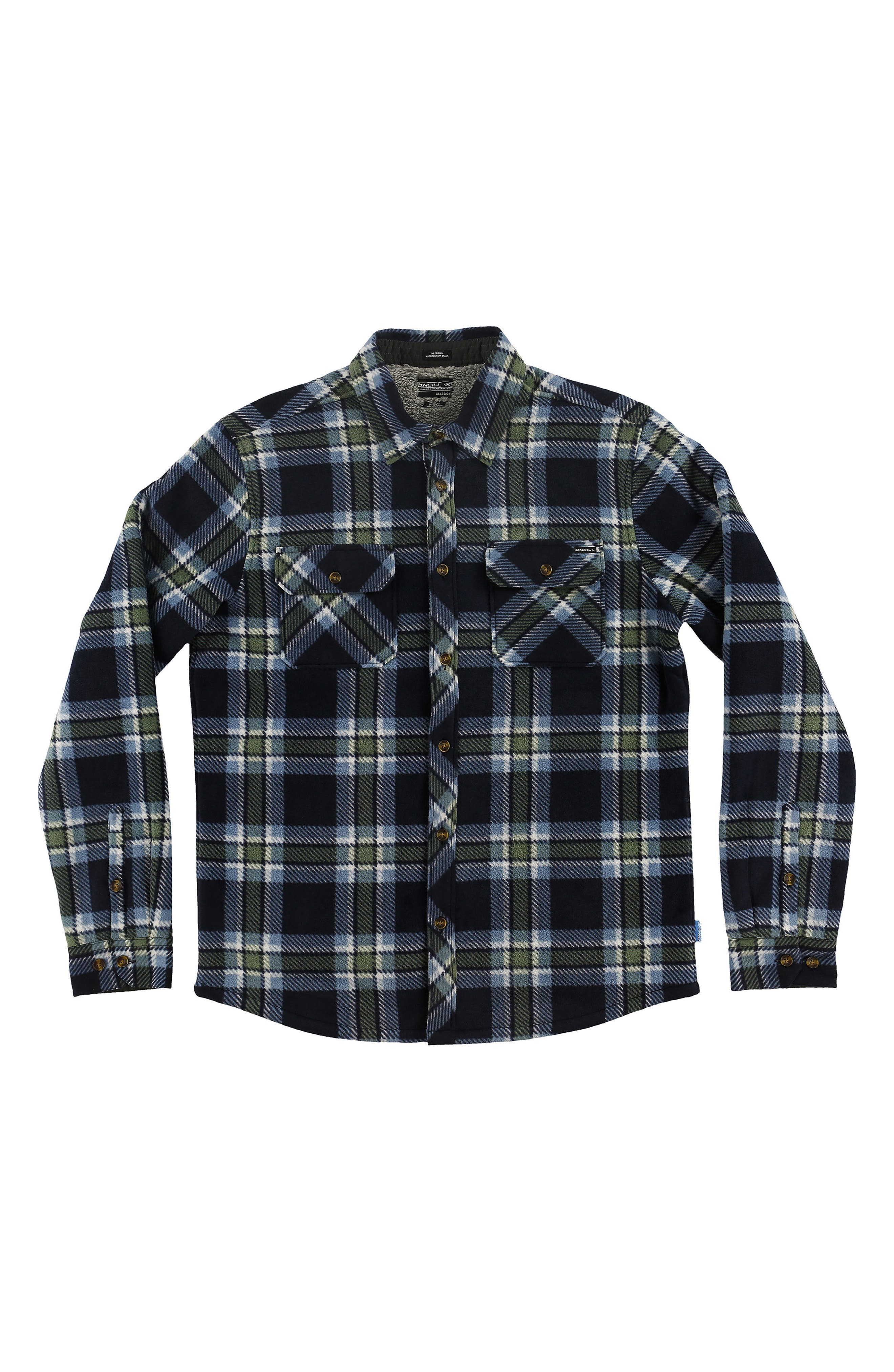 Glacier Heat Dome Terry Plaid Shirt,                         Main,                         color, Navy