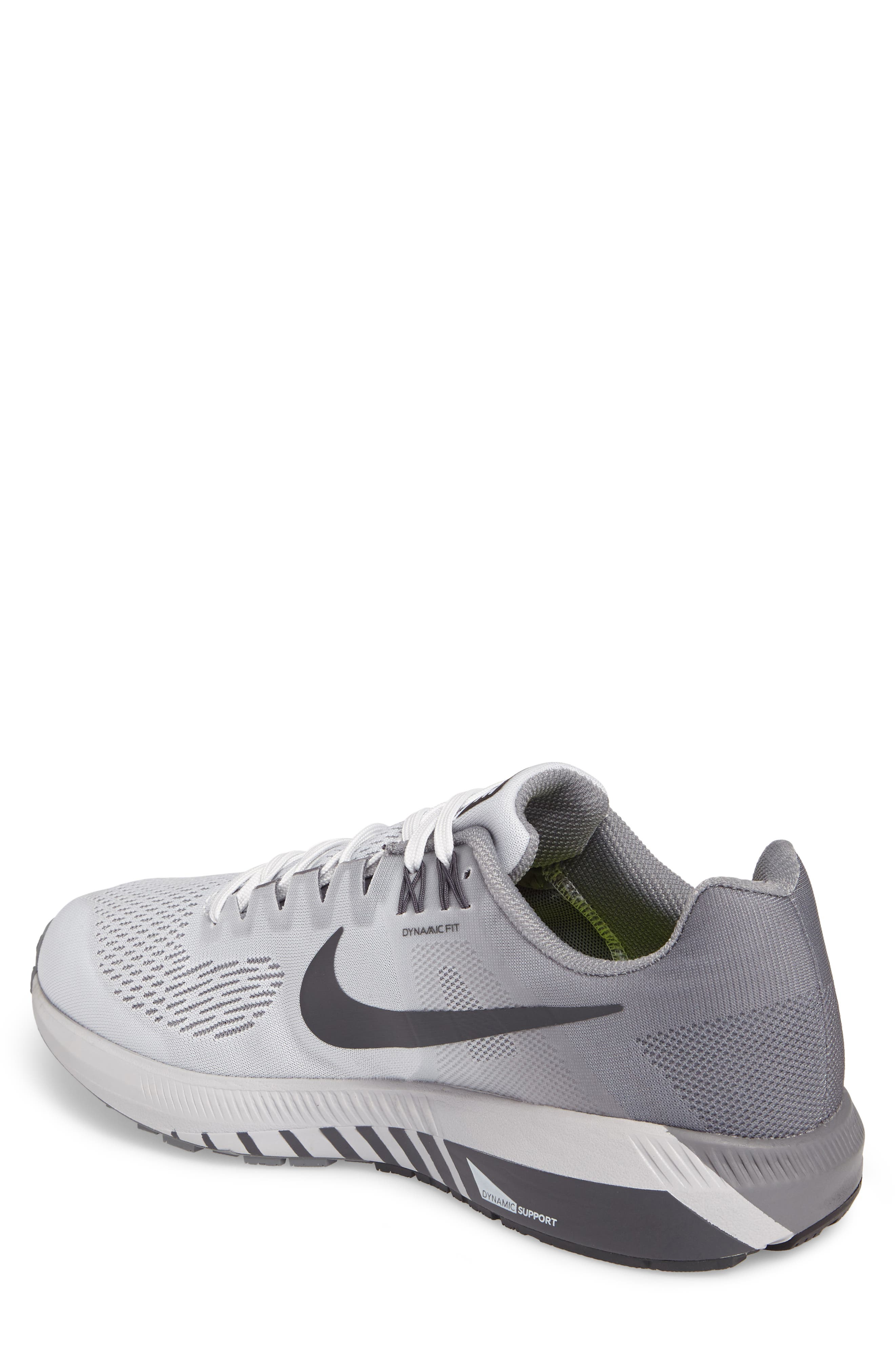 Air Zoom Structure 21 Running Shoe,                             Alternate thumbnail 2, color,                             Platinum/Anthracite/Cool Grey
