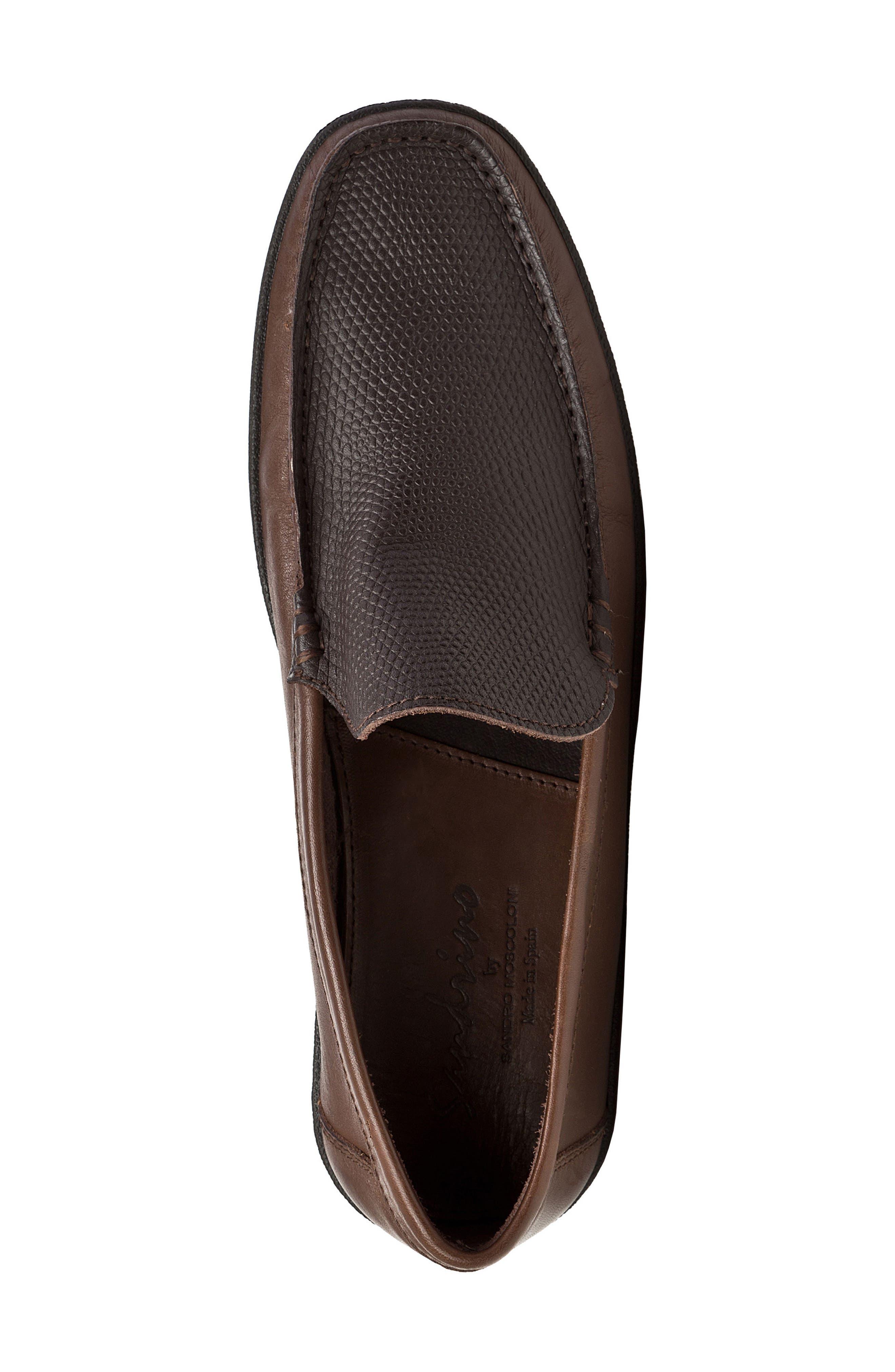 Alternate Image 5  - Sandro Moscoloni Torre Pebble Embossed Loafer (Men)