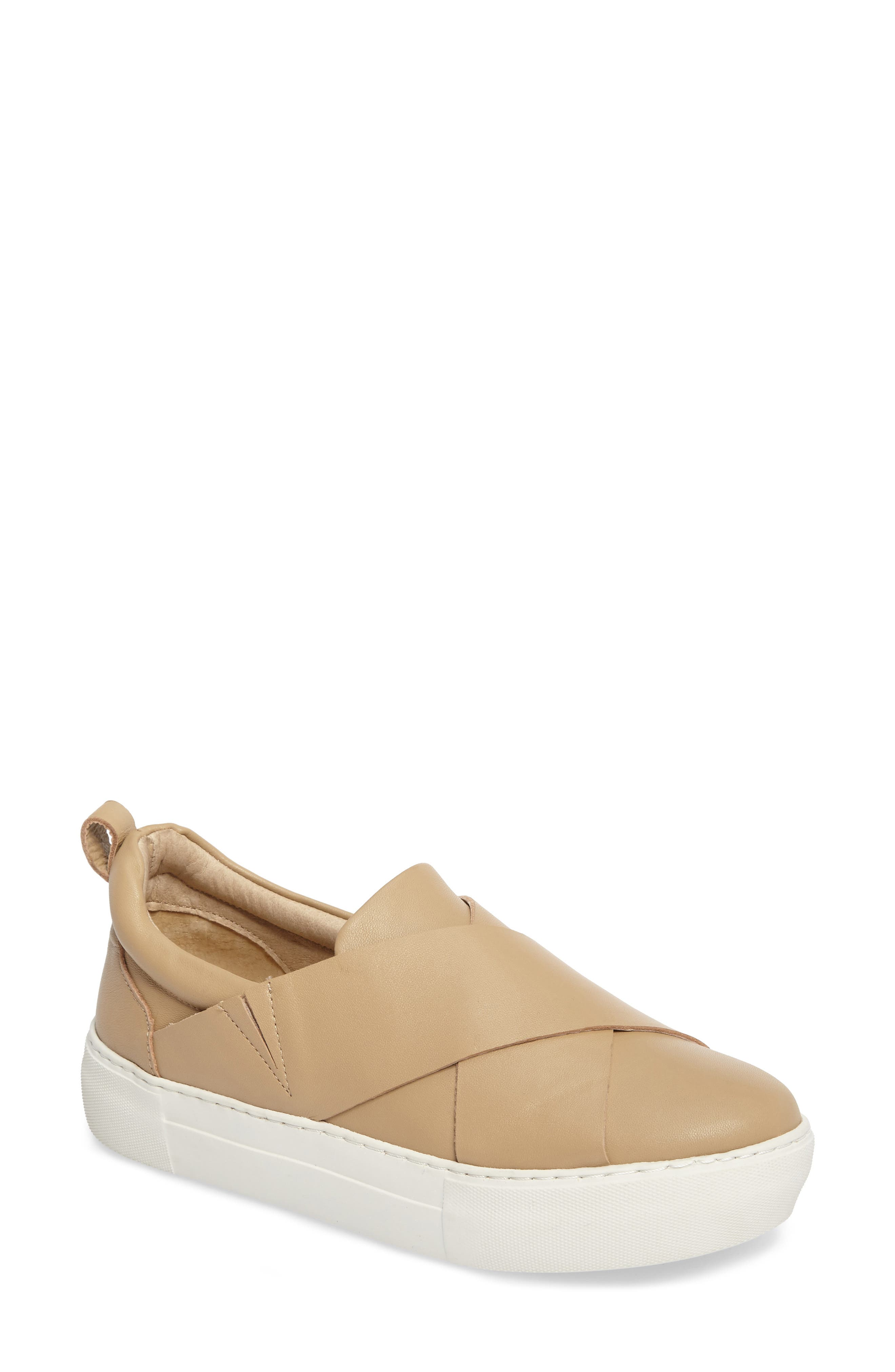 Alec Slip-On Sneaker,                             Main thumbnail 1, color,                             Sand Leather
