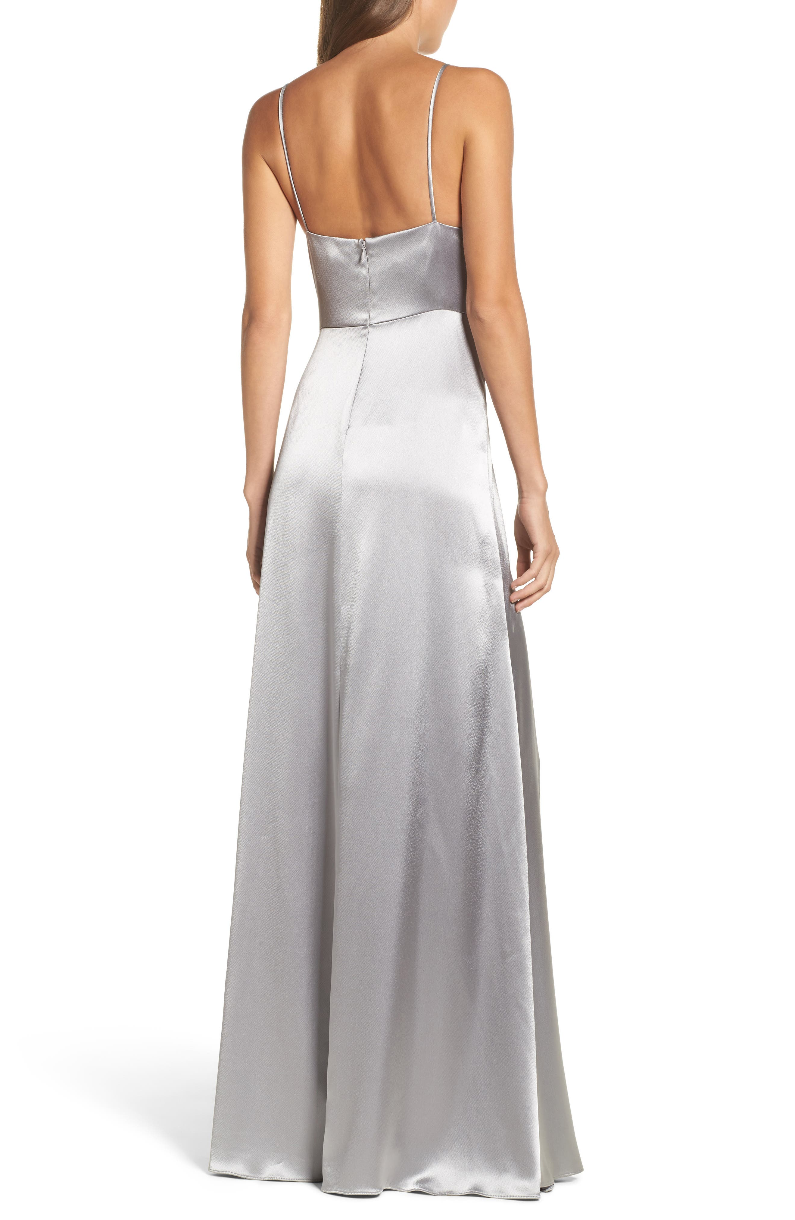 Alternate Image 2  - Jill Jill Stuart Faux Wrap Satin Gown