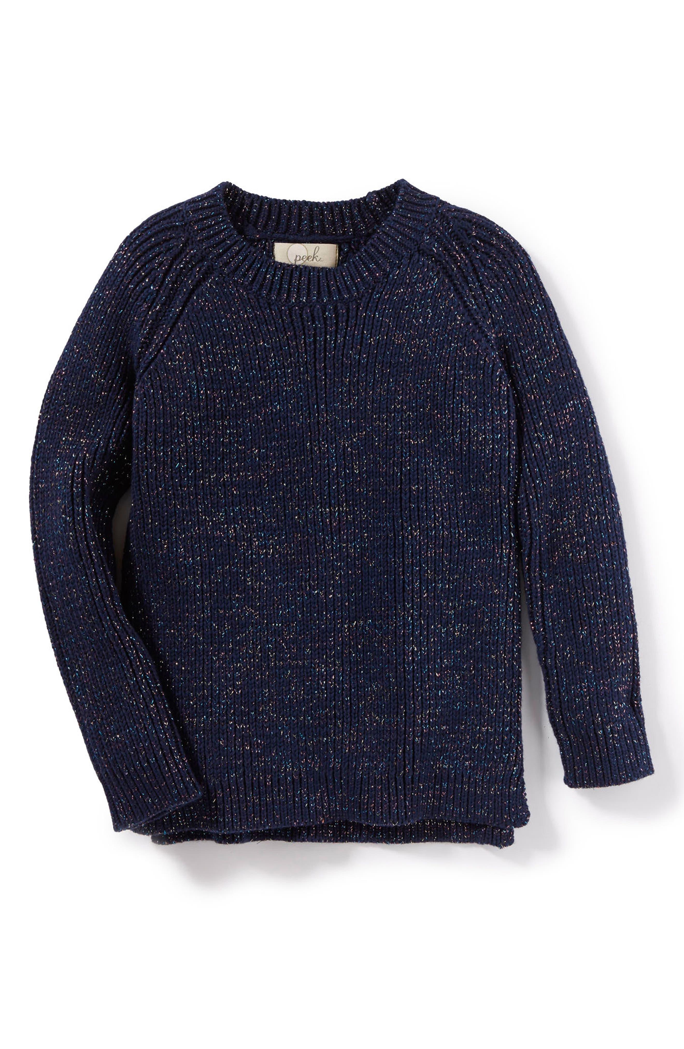 Serena Sweater,                             Main thumbnail 1, color,                             Navy