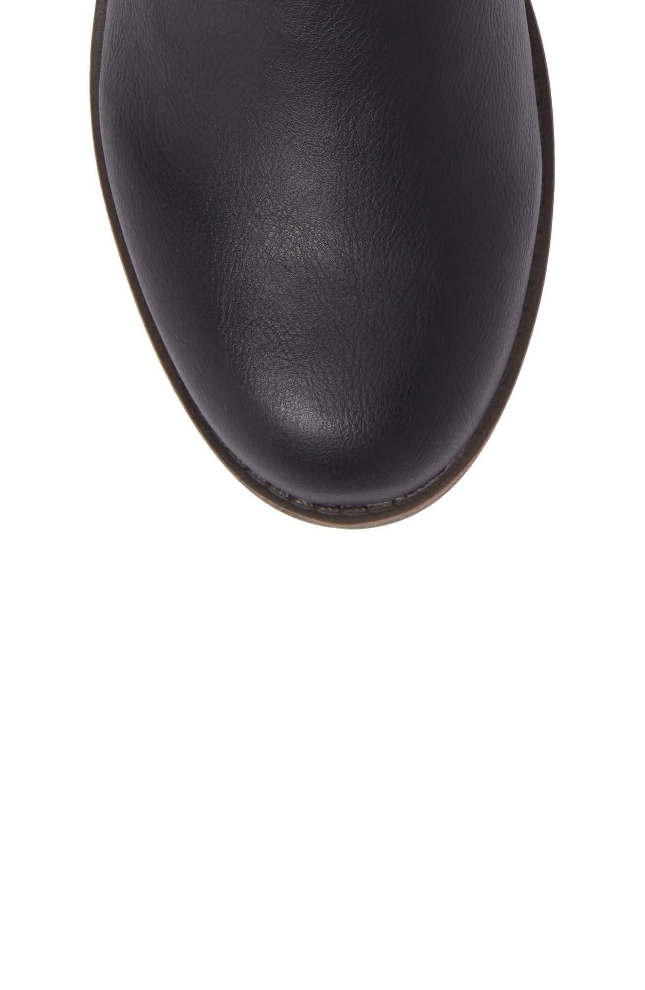 Melissa Button Riding Boot,                             Alternate thumbnail 5, color,                             Black