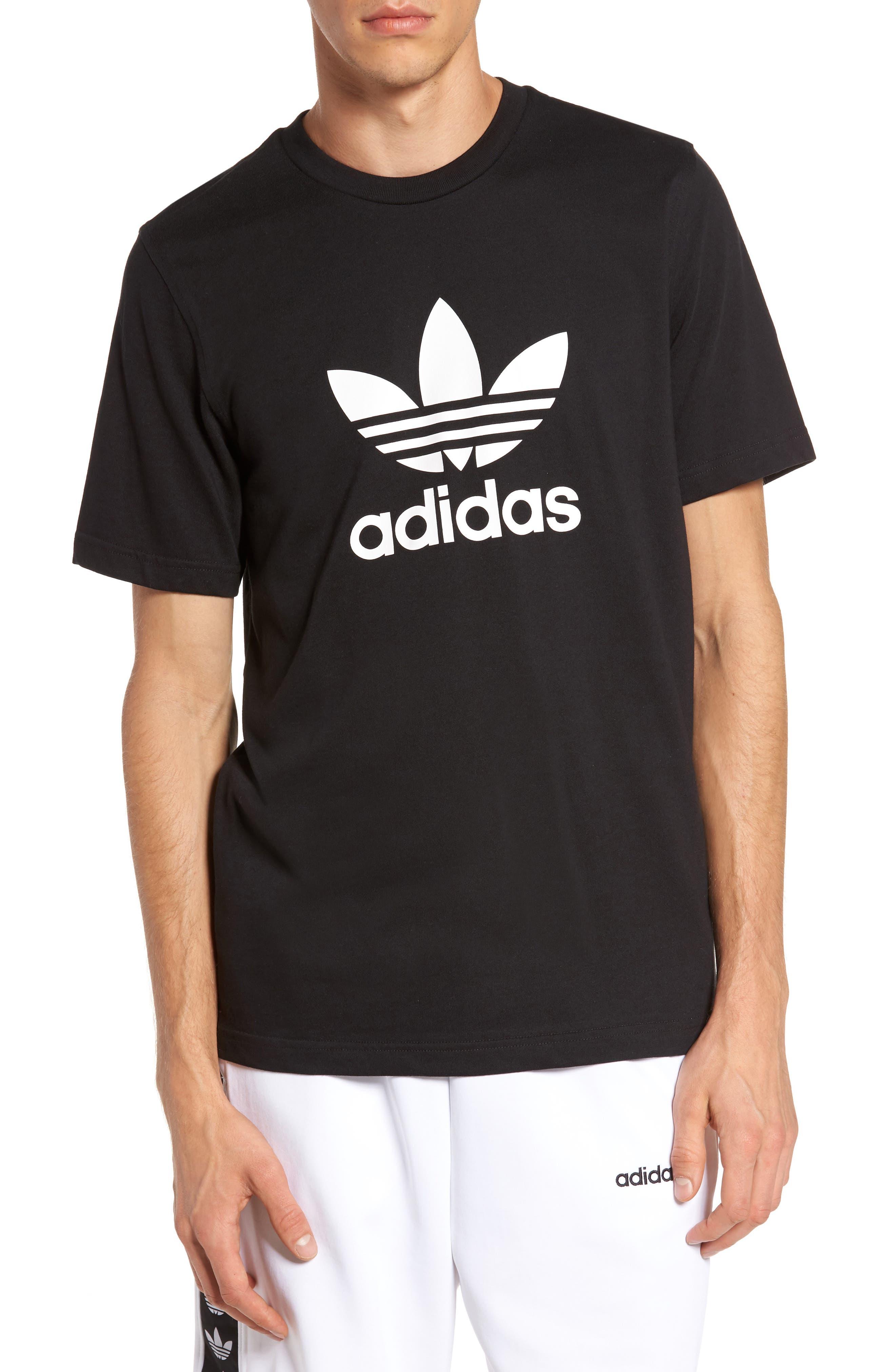 Trefoil Graphic T-Shirt,                         Main,                         color, Black