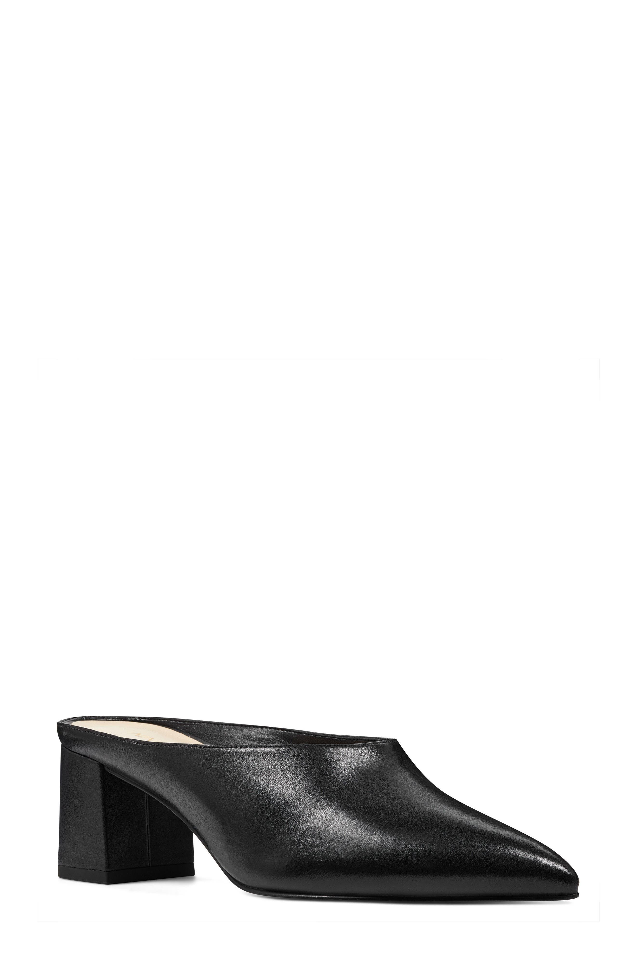 Helmer Mule,                             Main thumbnail 1, color,                             Black Leather