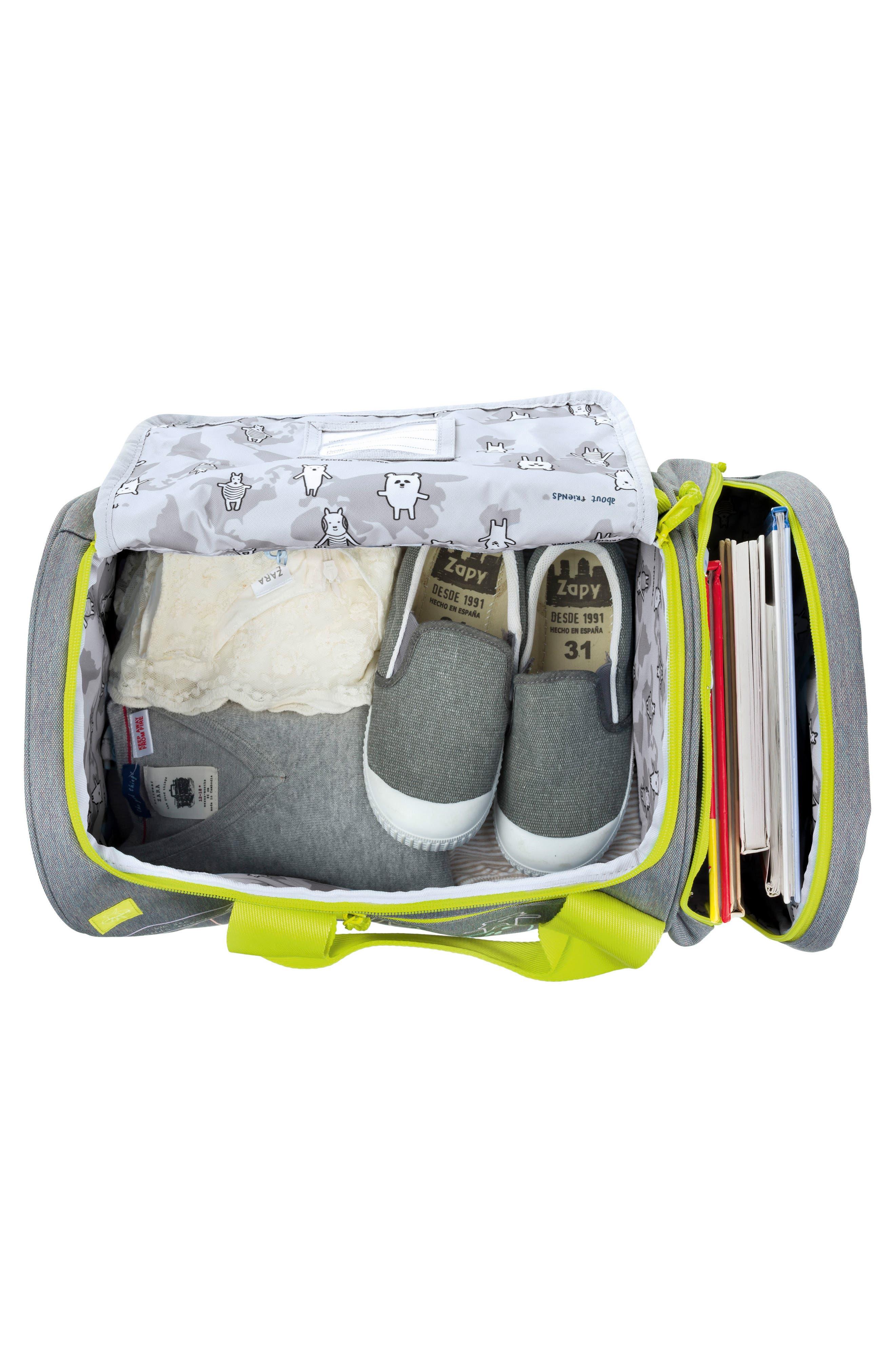 Mini About Friends Duffel Bag,                             Alternate thumbnail 3, color,                             Melange Grey