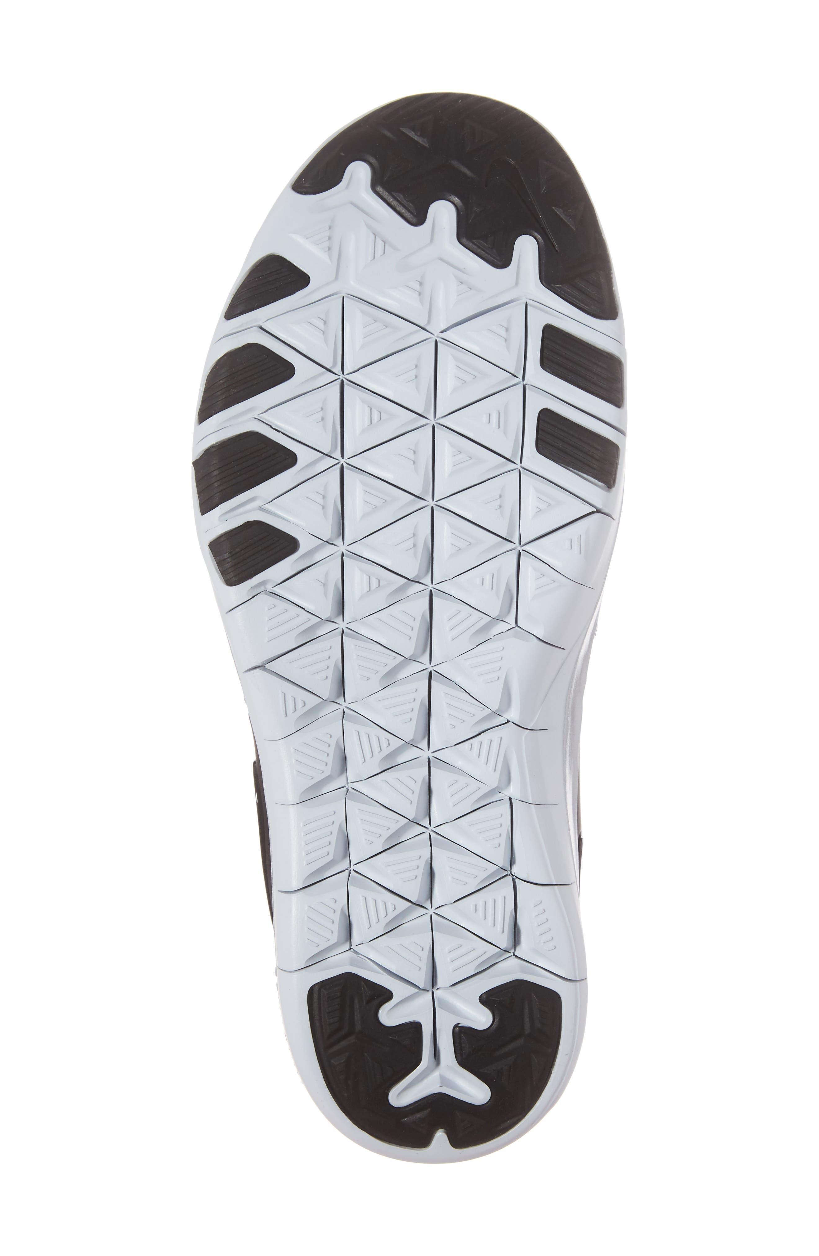 Free TR 7 Metallic Training Shoe,                             Alternate thumbnail 6, color,                             Black/ Black/ Pure Platinum
