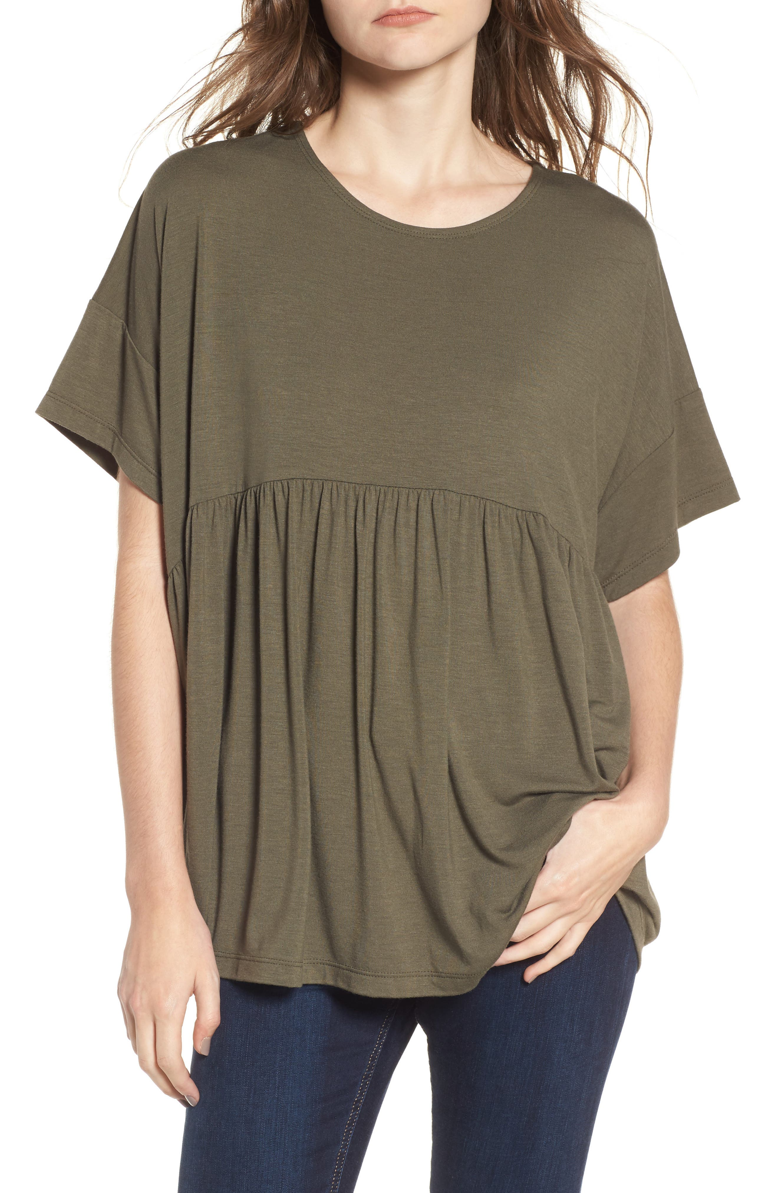 Alternate Image 1 Selected - Soprano Oversize Peplum Tee