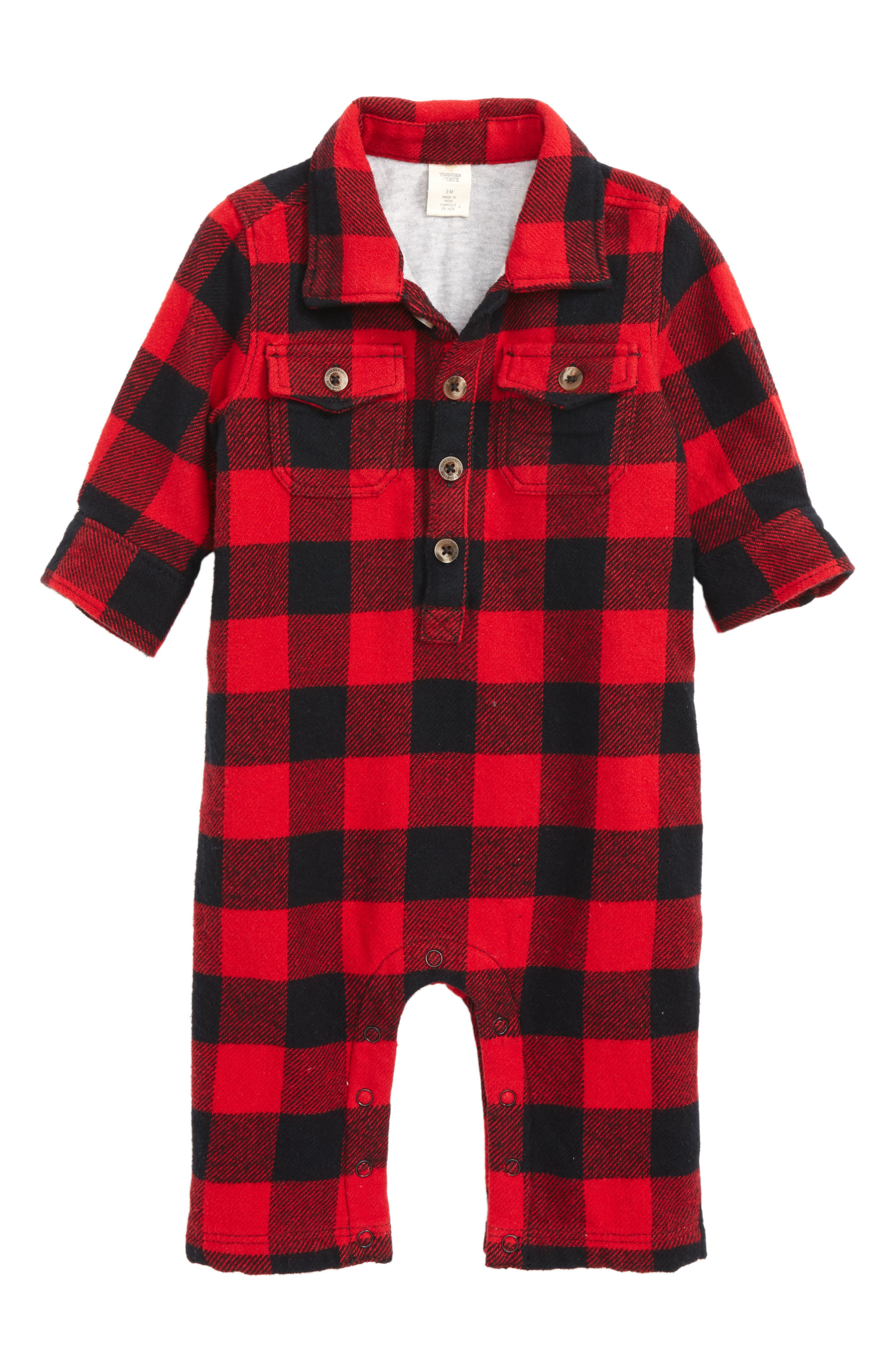 Alternate Image 1 Selected - Tucker & Tate Plaid Romper (Baby Boys)
