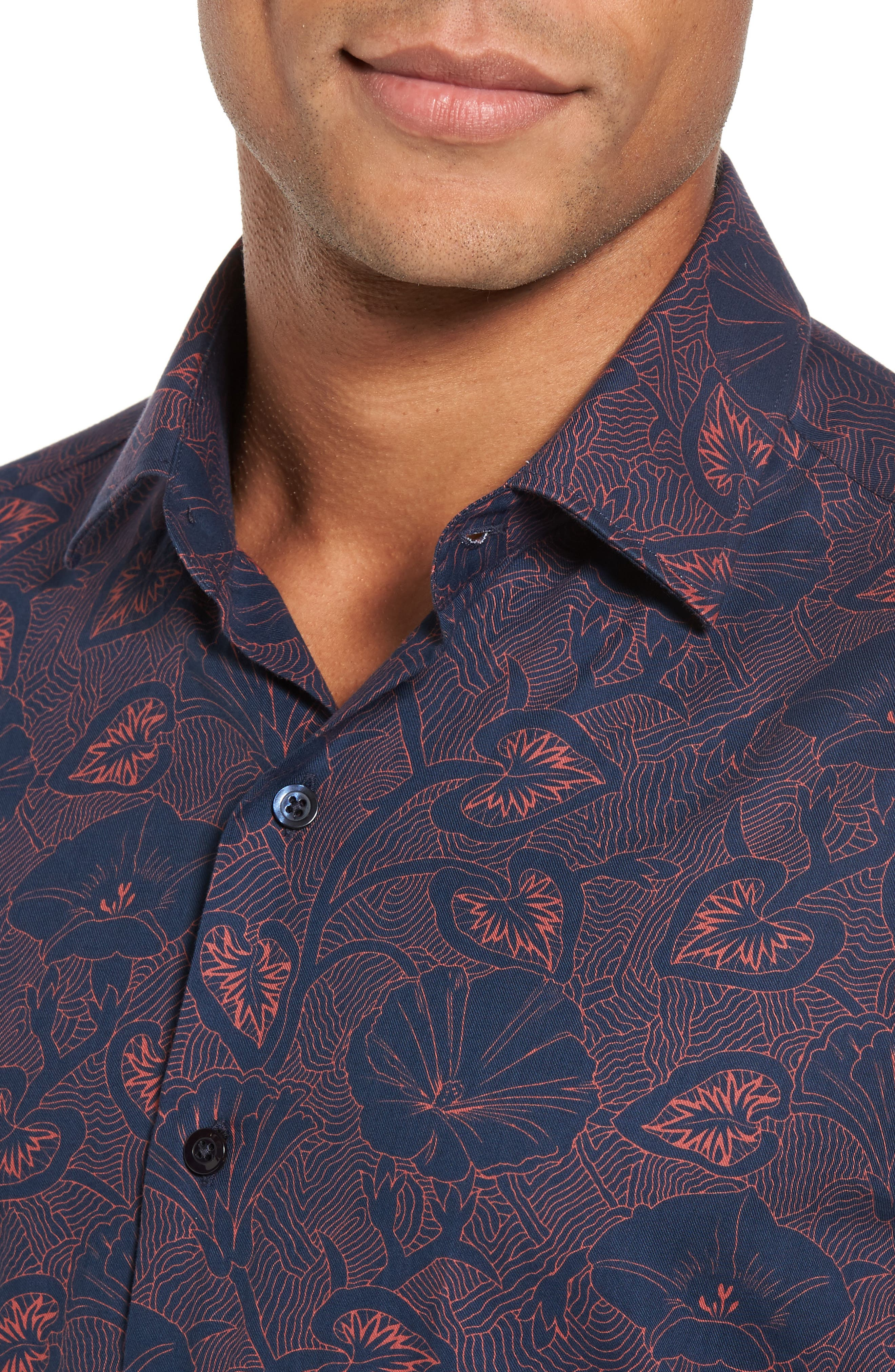 Alternate Image 4  - Culturata Floral Twill Sport Shirt