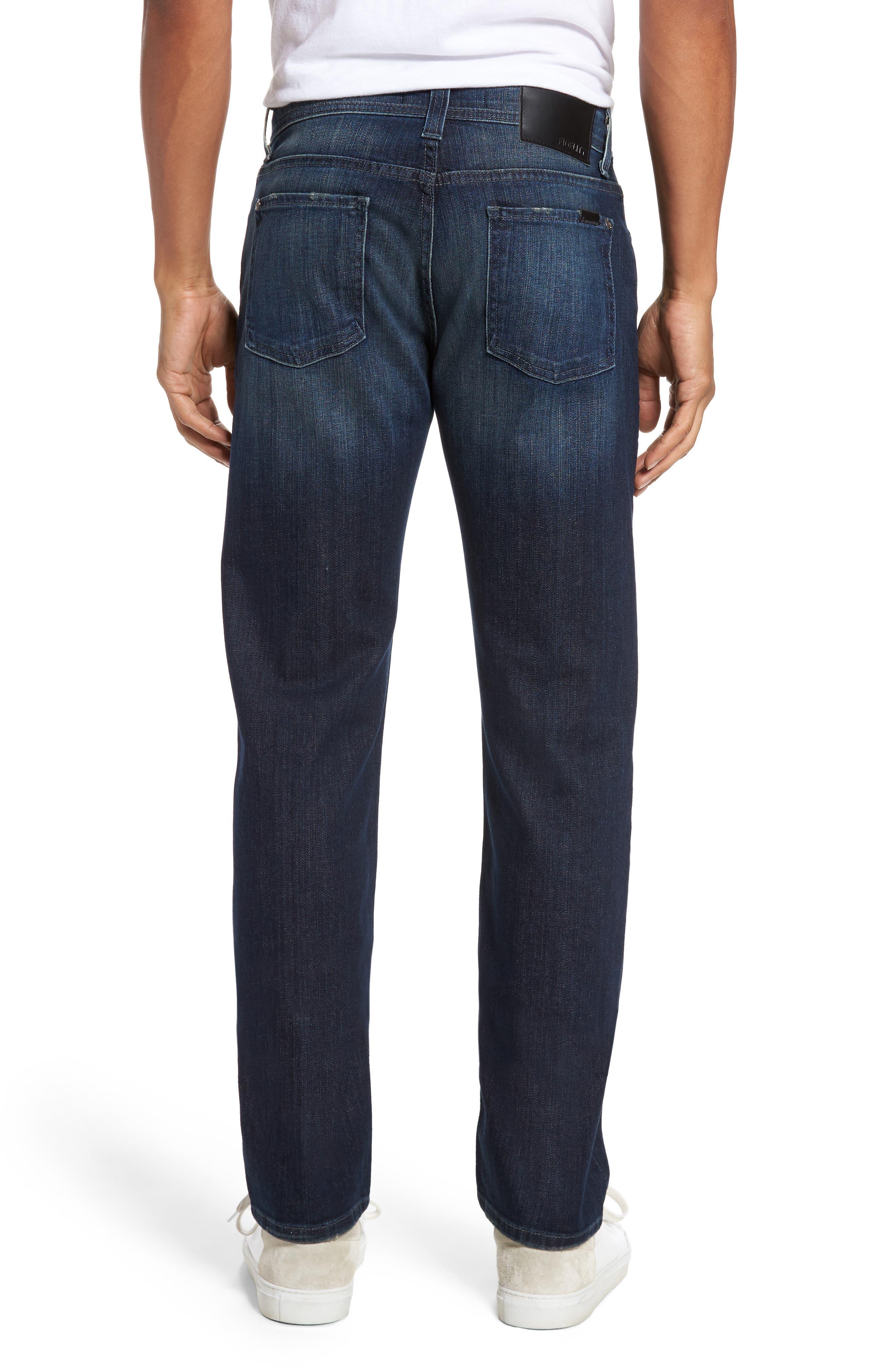 Alternate Image 2  - Fidelity Denim Jimmy Slim Straight Leg Jeans (Militia Blue)