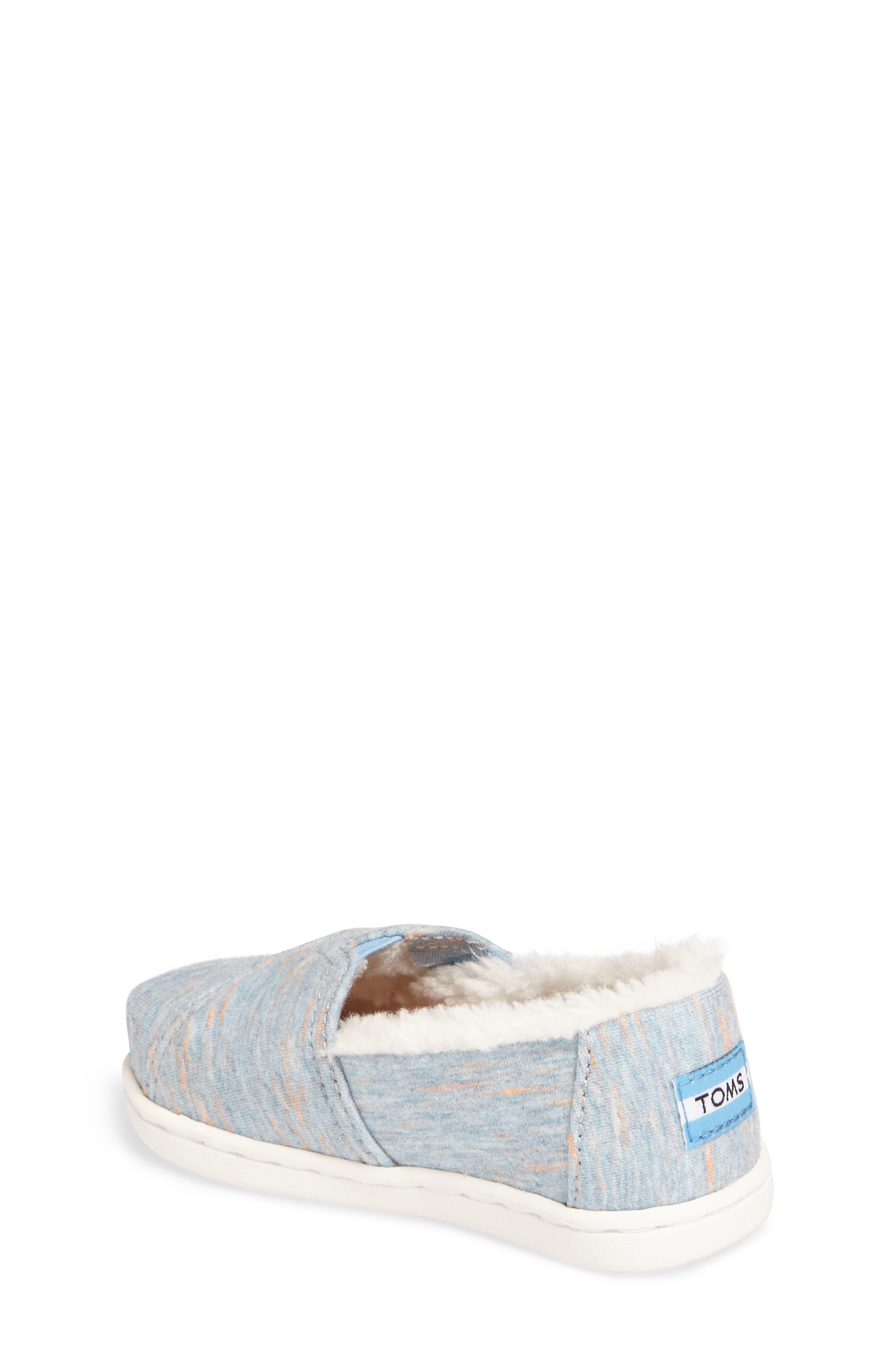 Classic - Tiny Herringbone Faux Shearling Lined Slip-On,                             Alternate thumbnail 2, color,                             Alaskan Blue Heather Jersey