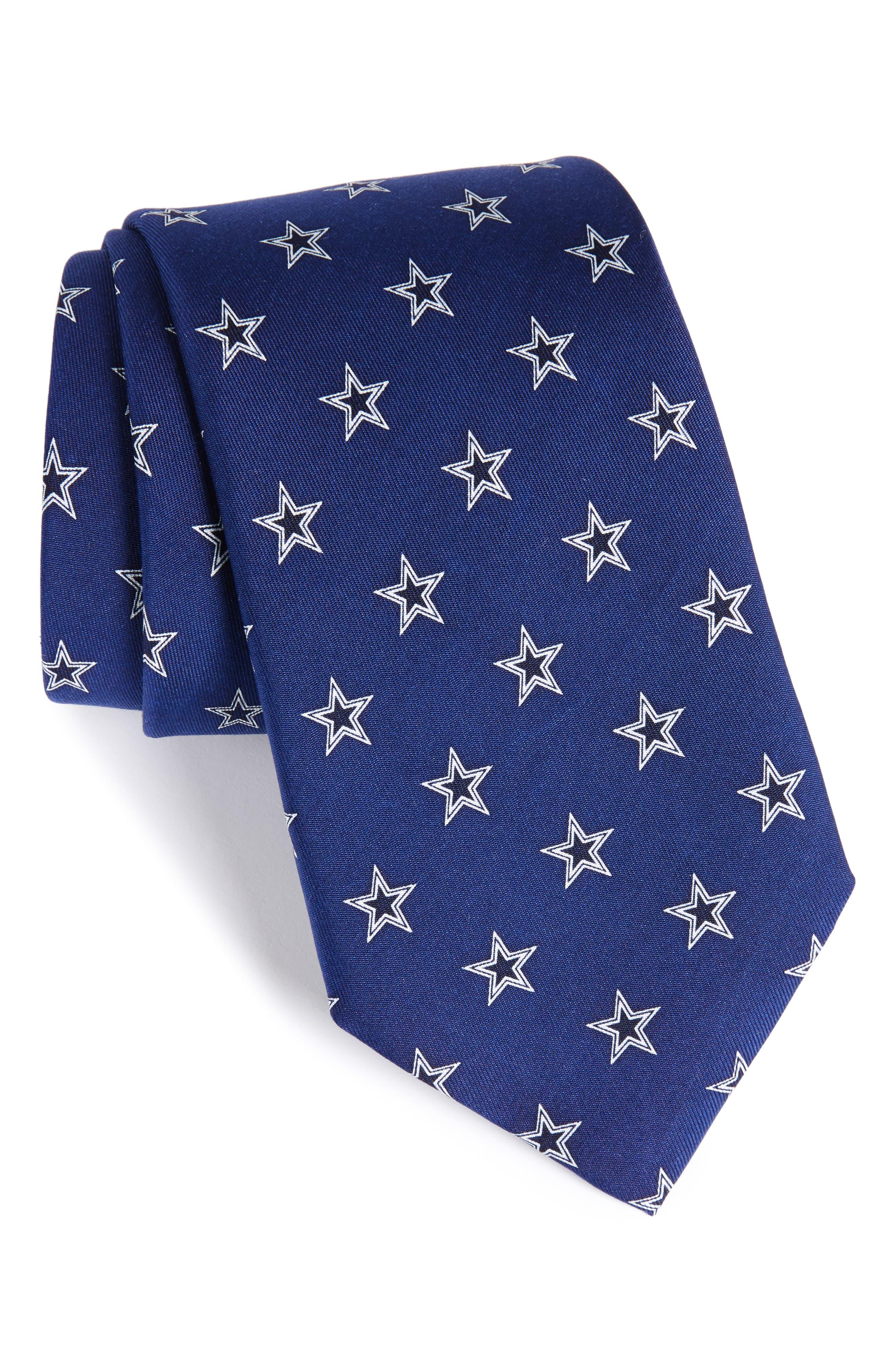 Dallas Cowboys Silk Tie,                             Main thumbnail 1, color,                             Navy