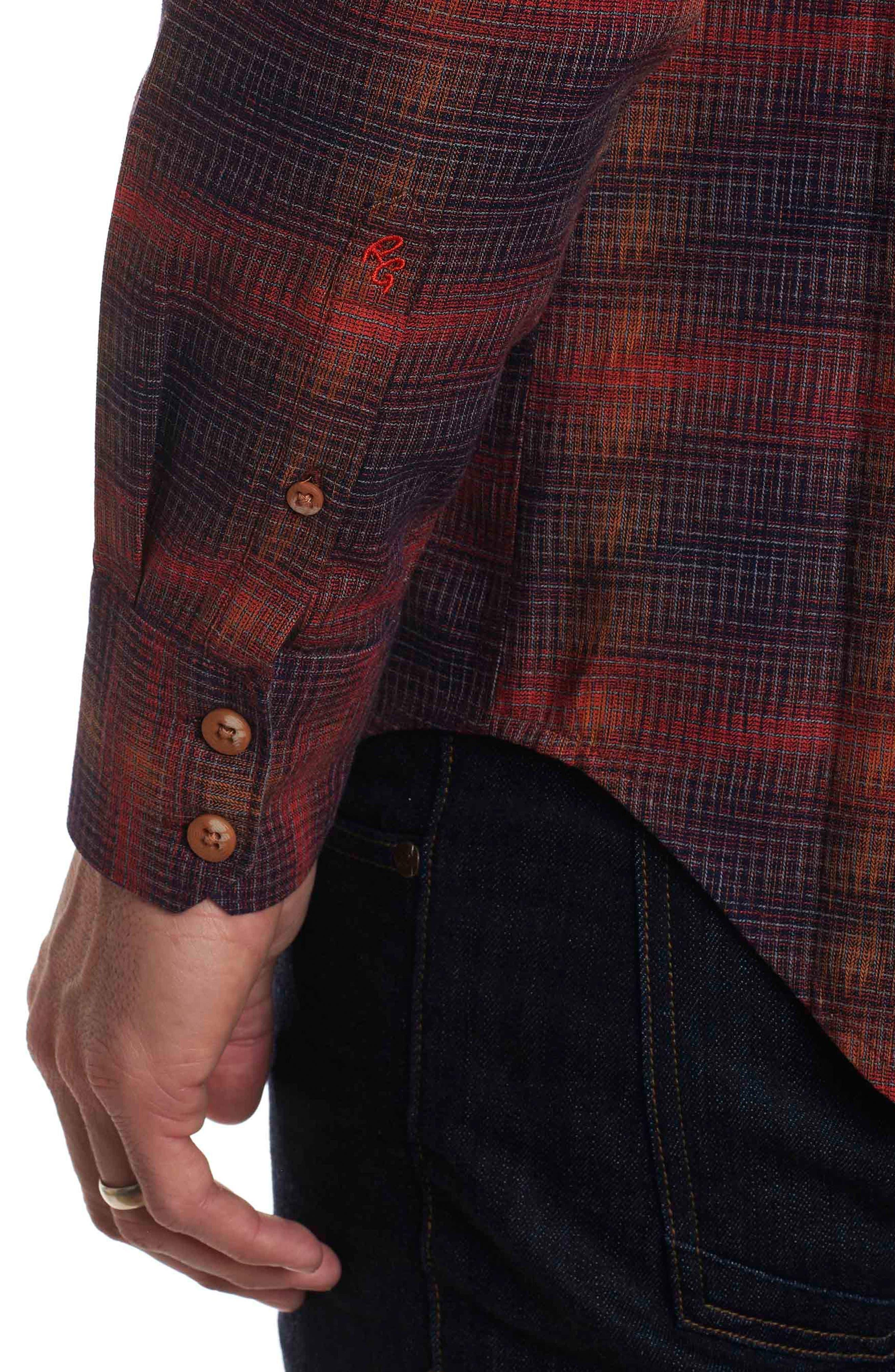 Lumberman Tailored Fit Sport Shirt,                             Alternate thumbnail 5, color,                             Red