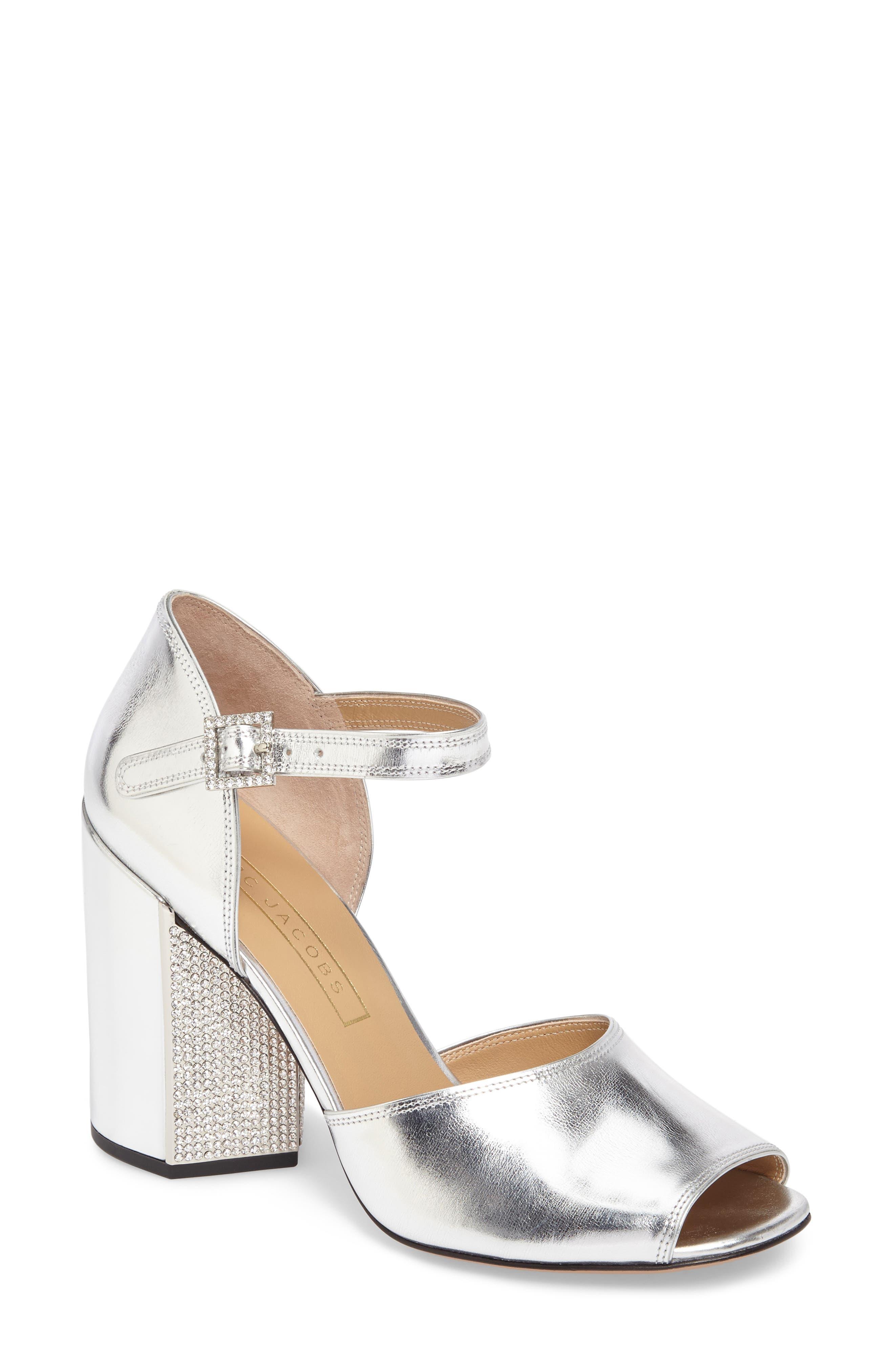 MARC JACOBS Kasia Embellished Ankle Strap Sandal (Women)
