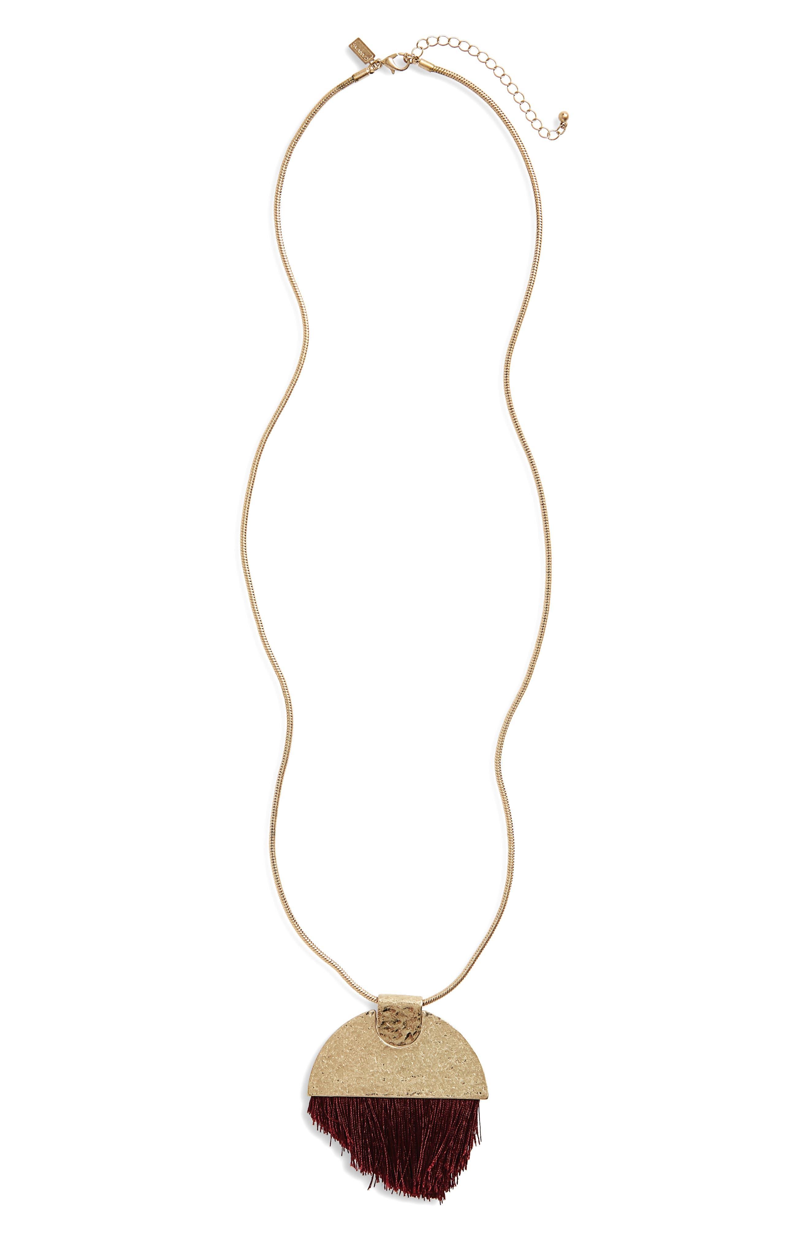 Canvas Brush Tassel Pendant Necklace