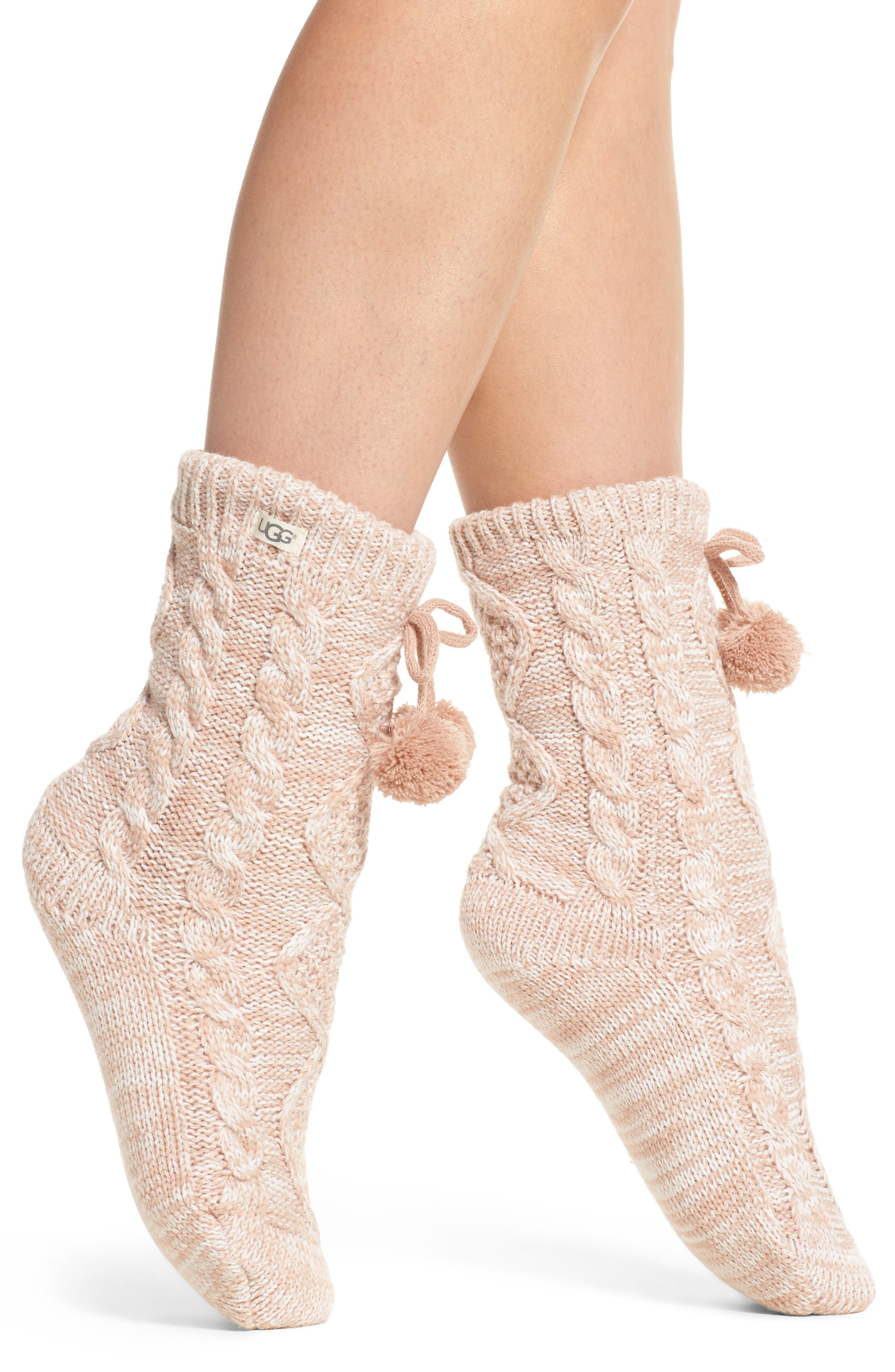 Fleece Lined Socks,                         Main,                         color, Freshwater Pearl
