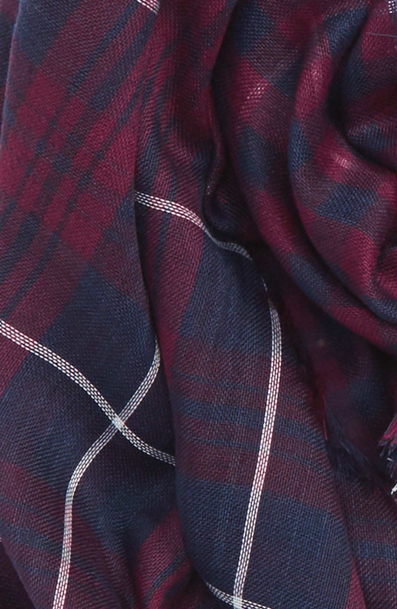 David & Young Plaid Oblong Scarf,                             Alternate thumbnail 3, color,                             Blue/ Red