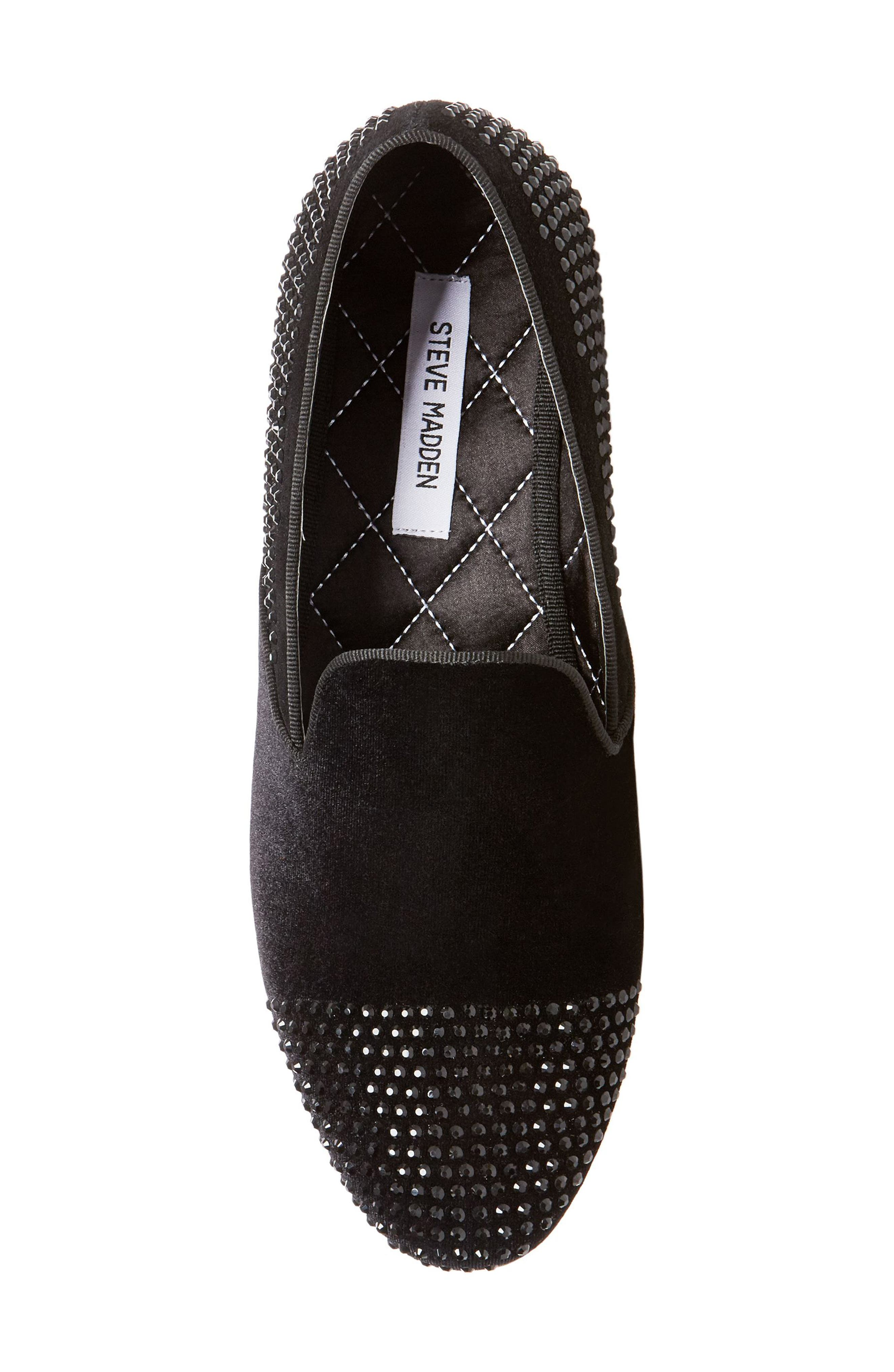 Clarity Loafer,                             Alternate thumbnail 5, color,                             Black Fabric