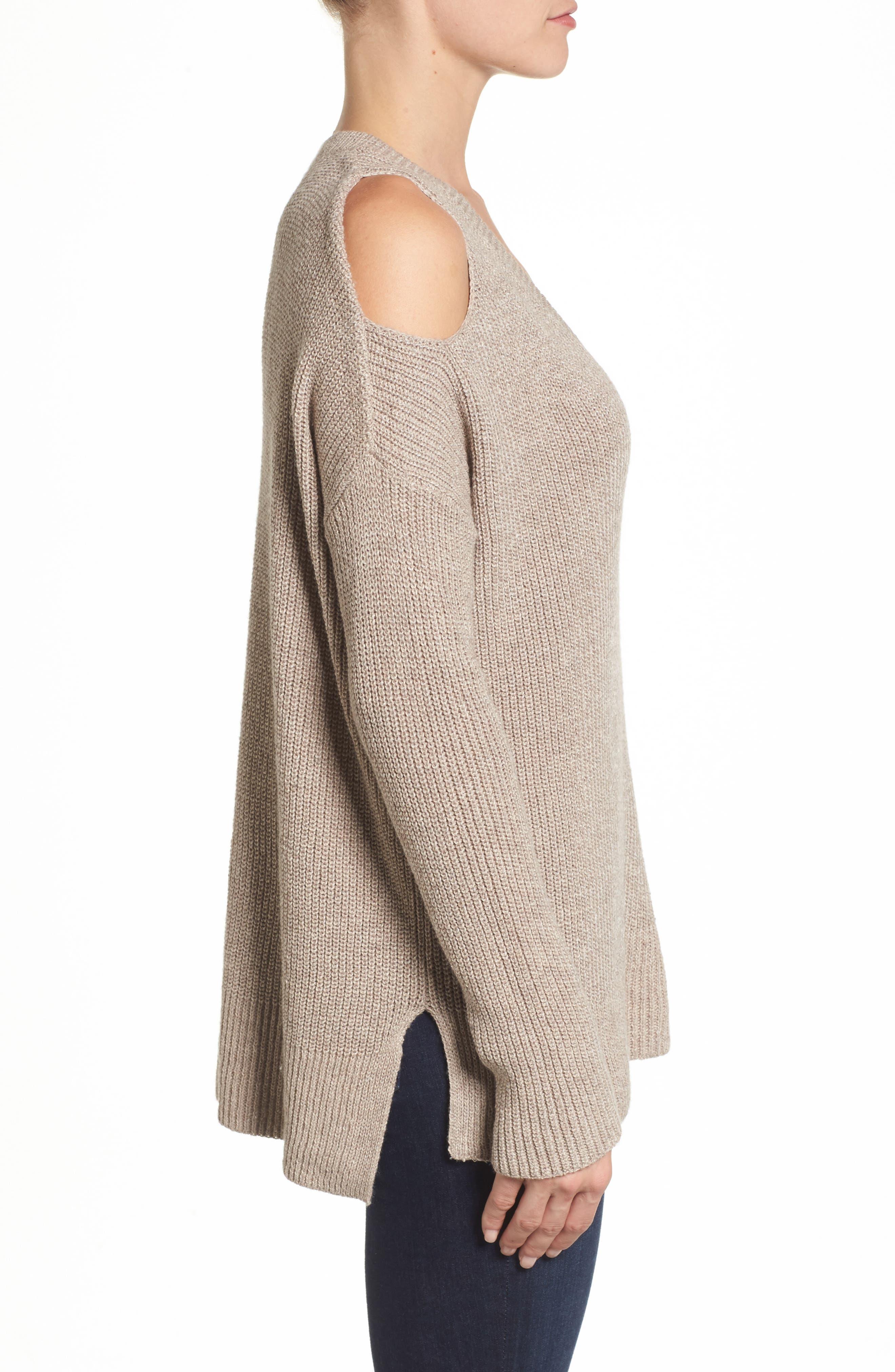 Alternate Image 3  - Caslon® Cold Shoulder Tunic Sweater