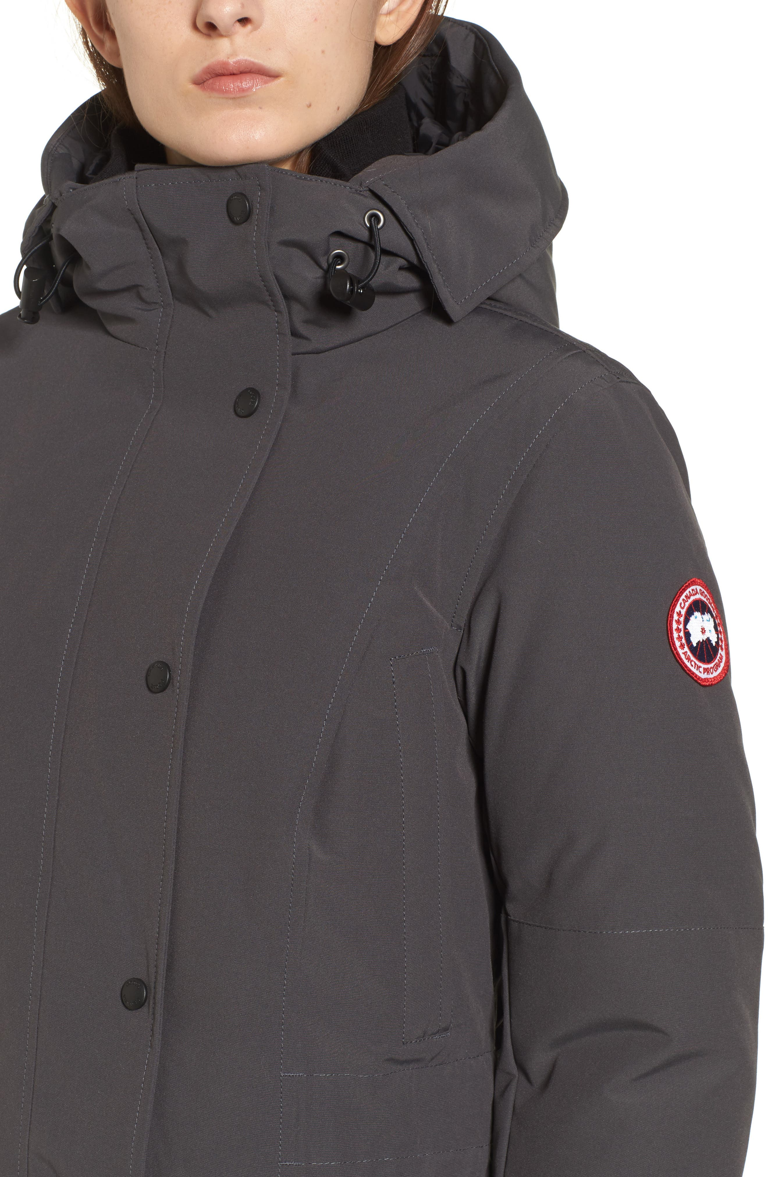 Kinley Insulated Parka,                             Alternate thumbnail 4, color,                             Graphite