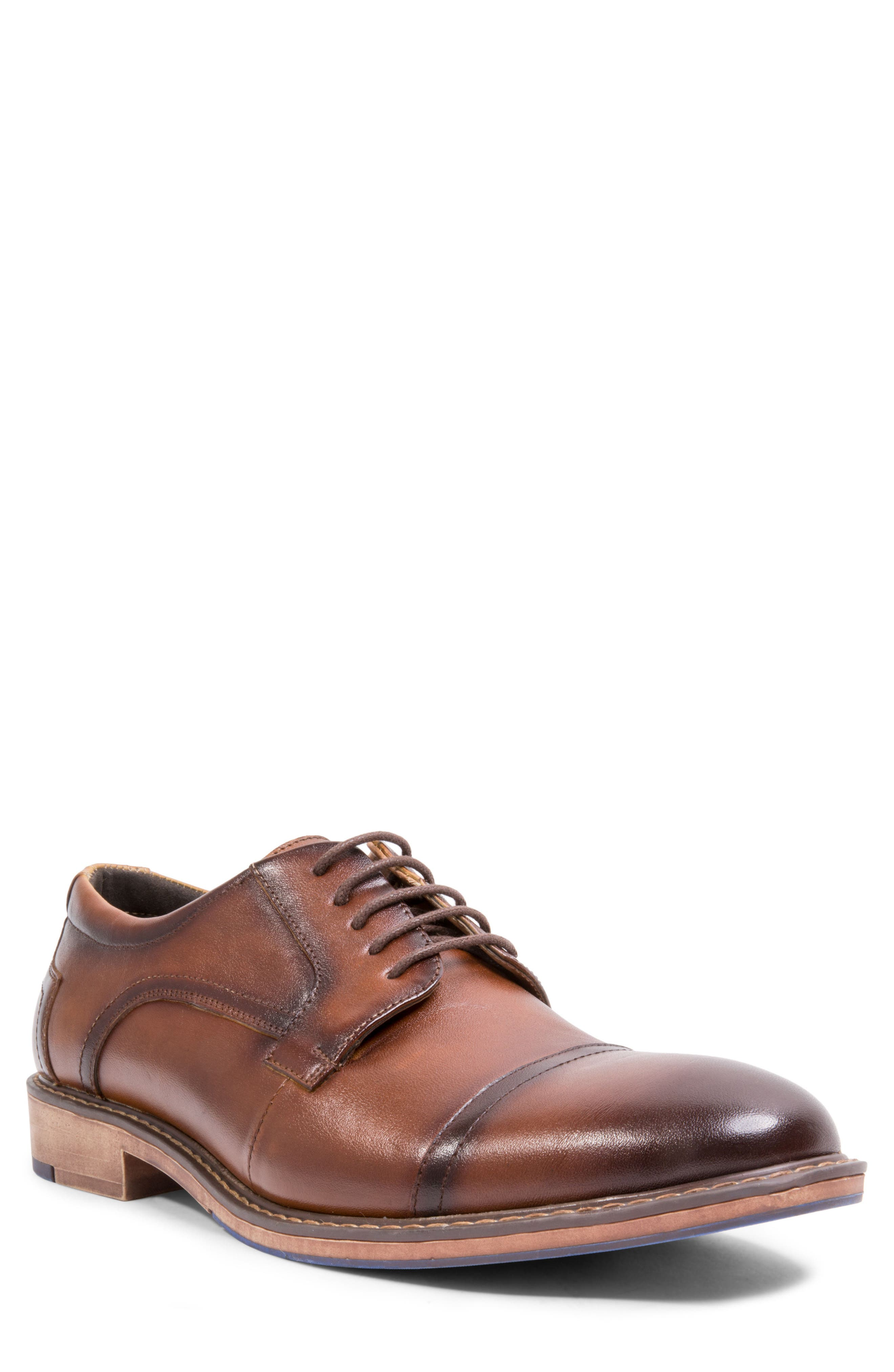 Averie Cap Toe Derby,                         Main,                         color, Tan Leather
