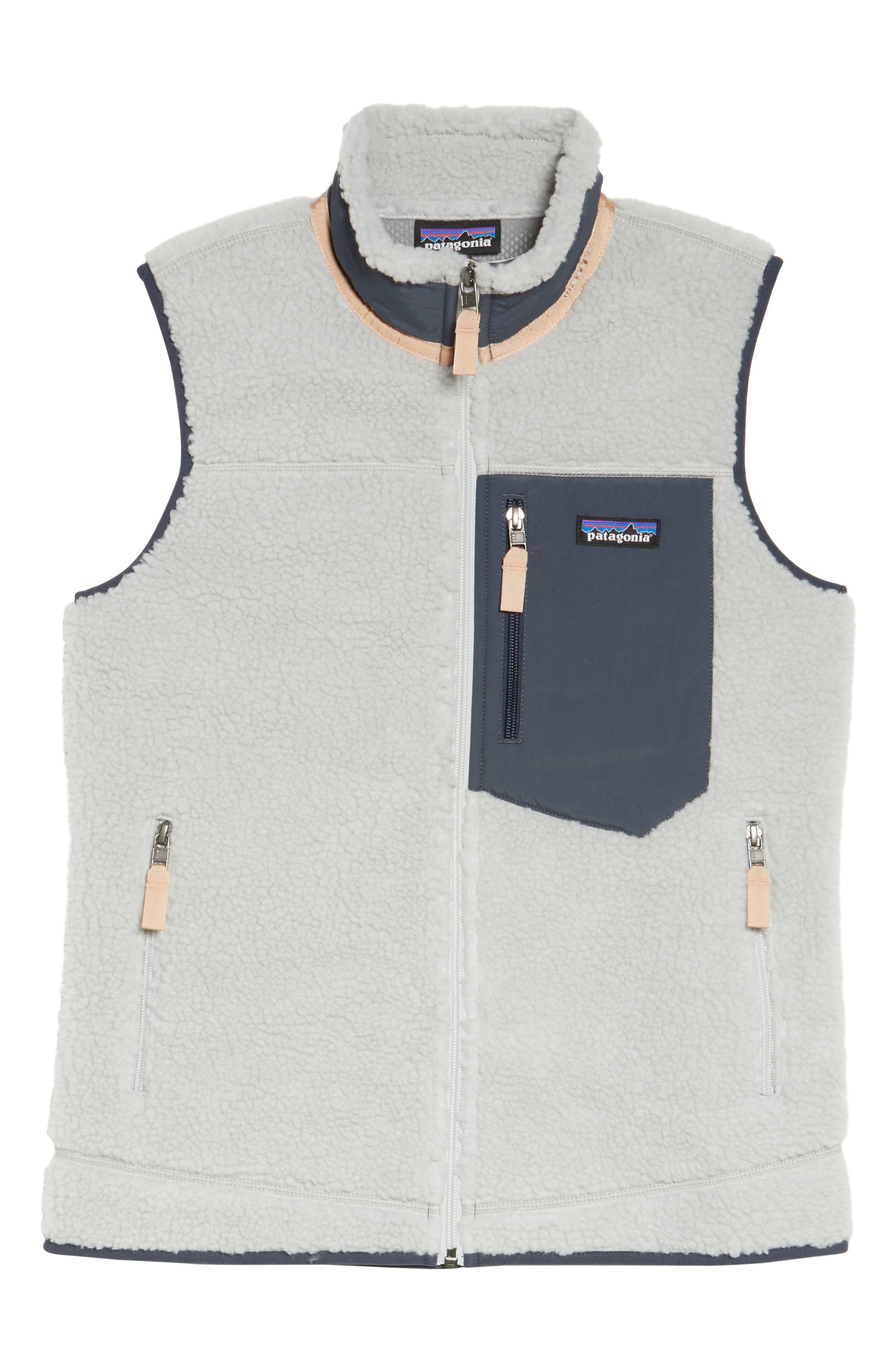 Classic Retro-X<sup>®</sup> Fleece Vest,                             Alternate thumbnail 7, color,                             Tailored Grey W/ Smolder Blue