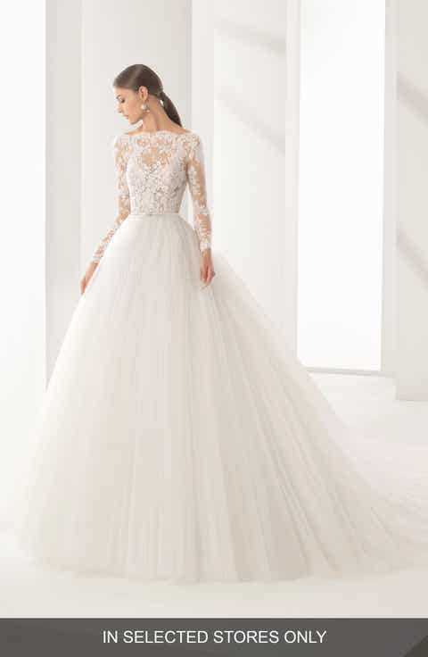 Womens ball gown wedding dresses bridal gowns nordstrom rosa clara couture niher lace tulle ballgown junglespirit Image collections