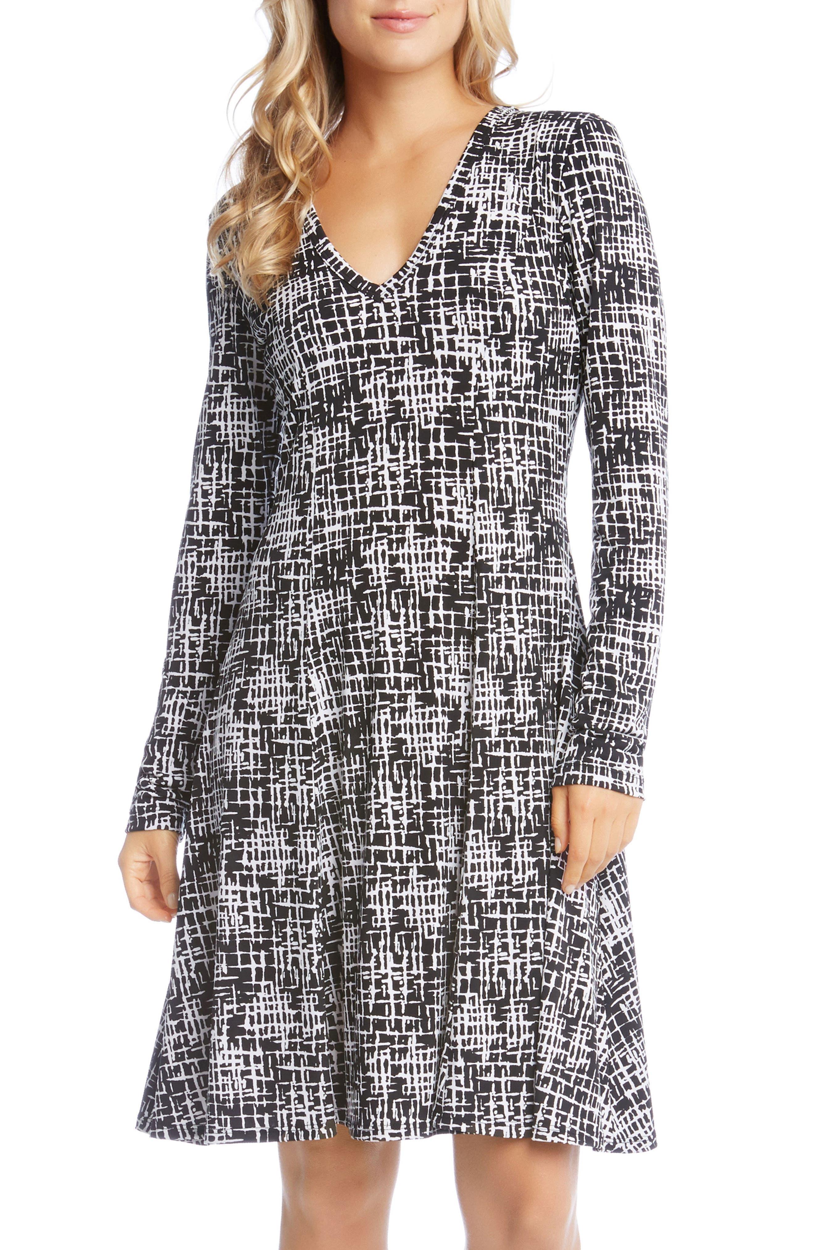 Fit & Flare Dress,                         Main,                         color, Print