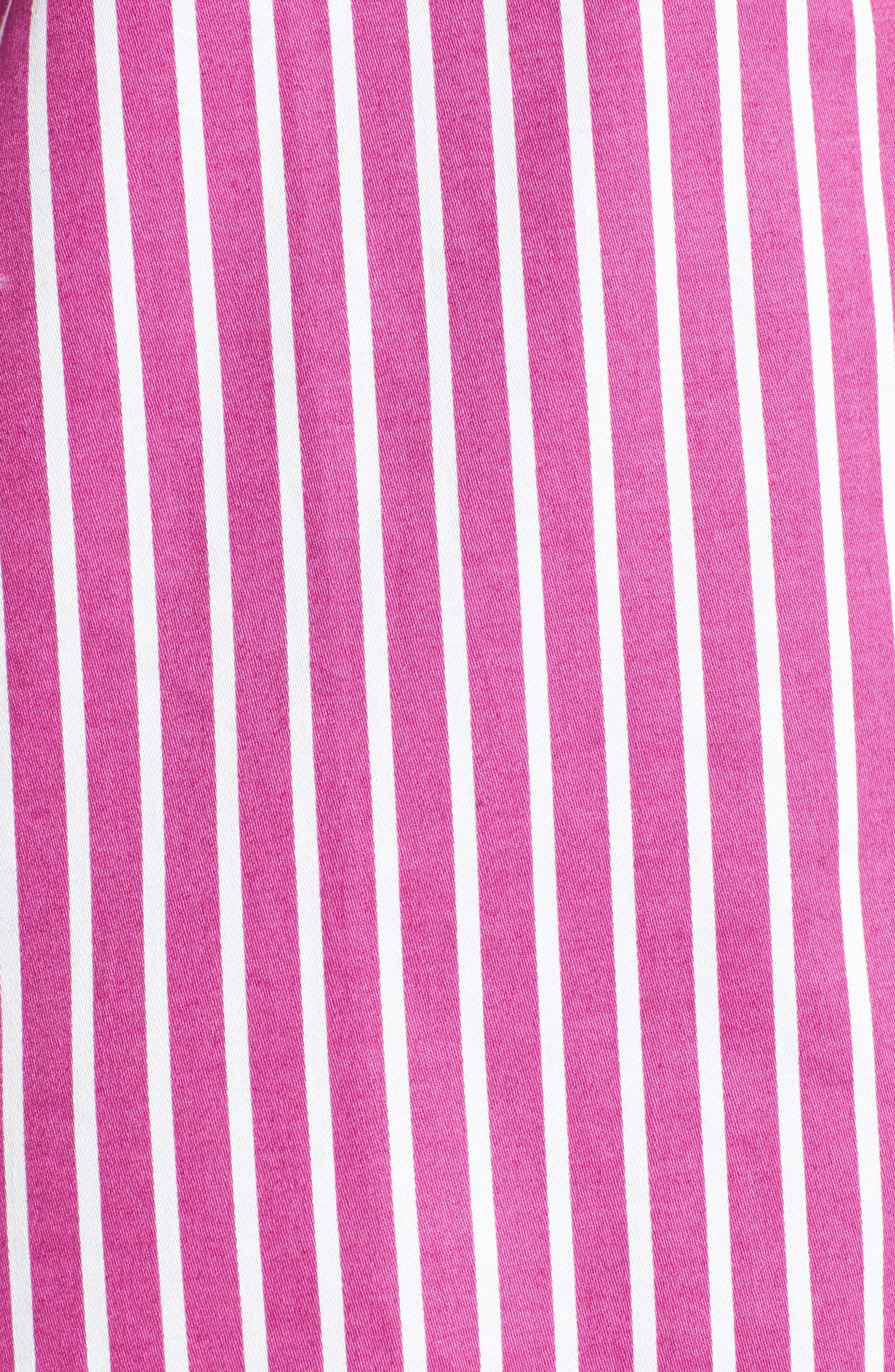 Sleep Shirt,                             Alternate thumbnail 5, color,                             Pink/ White Stripe
