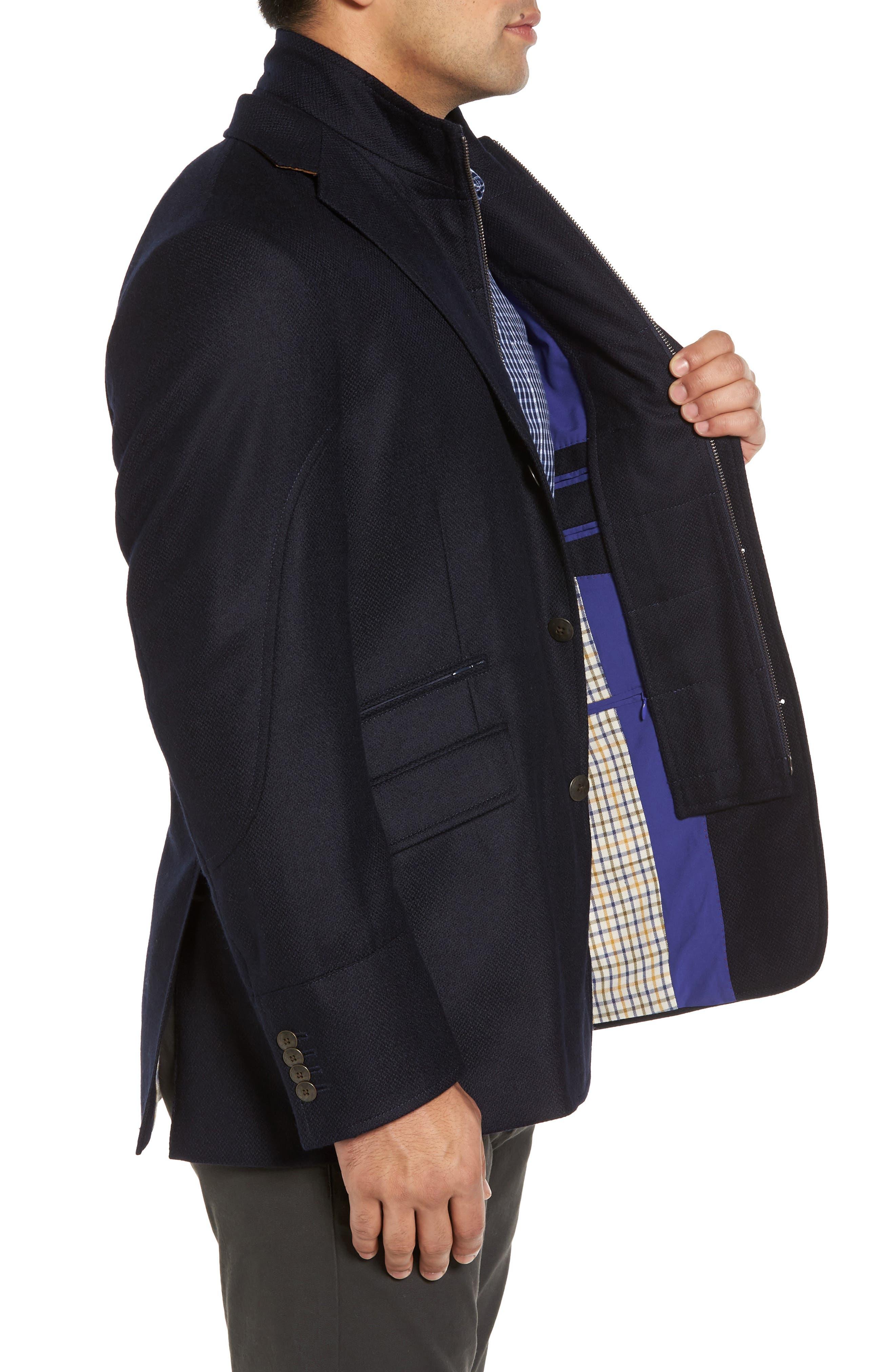Ritchie Aim Hybrid Classic Fit Wool & Cashmere Sport Coat,                             Alternate thumbnail 3, color,                             Navy
