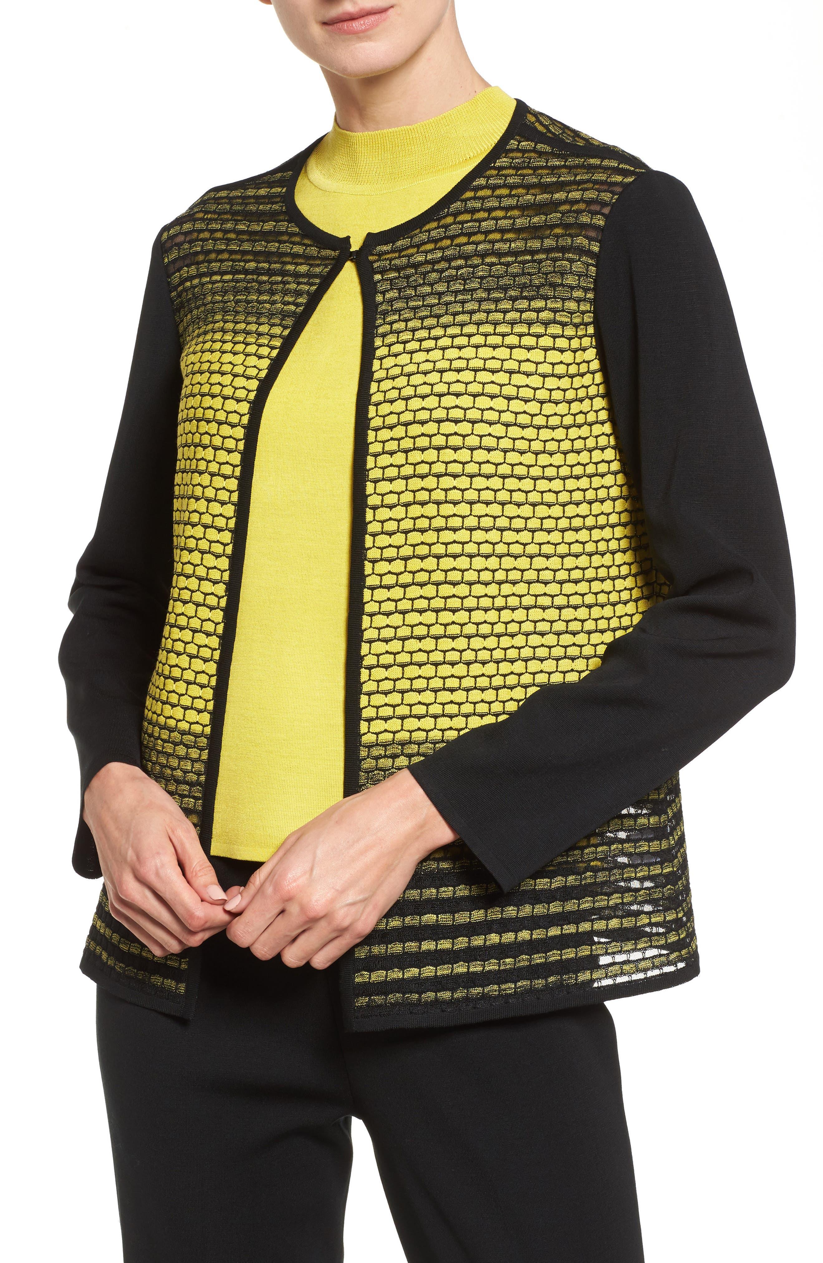Alternate Image 1 Selected - Ming Wang Colorblock Knit Jacket