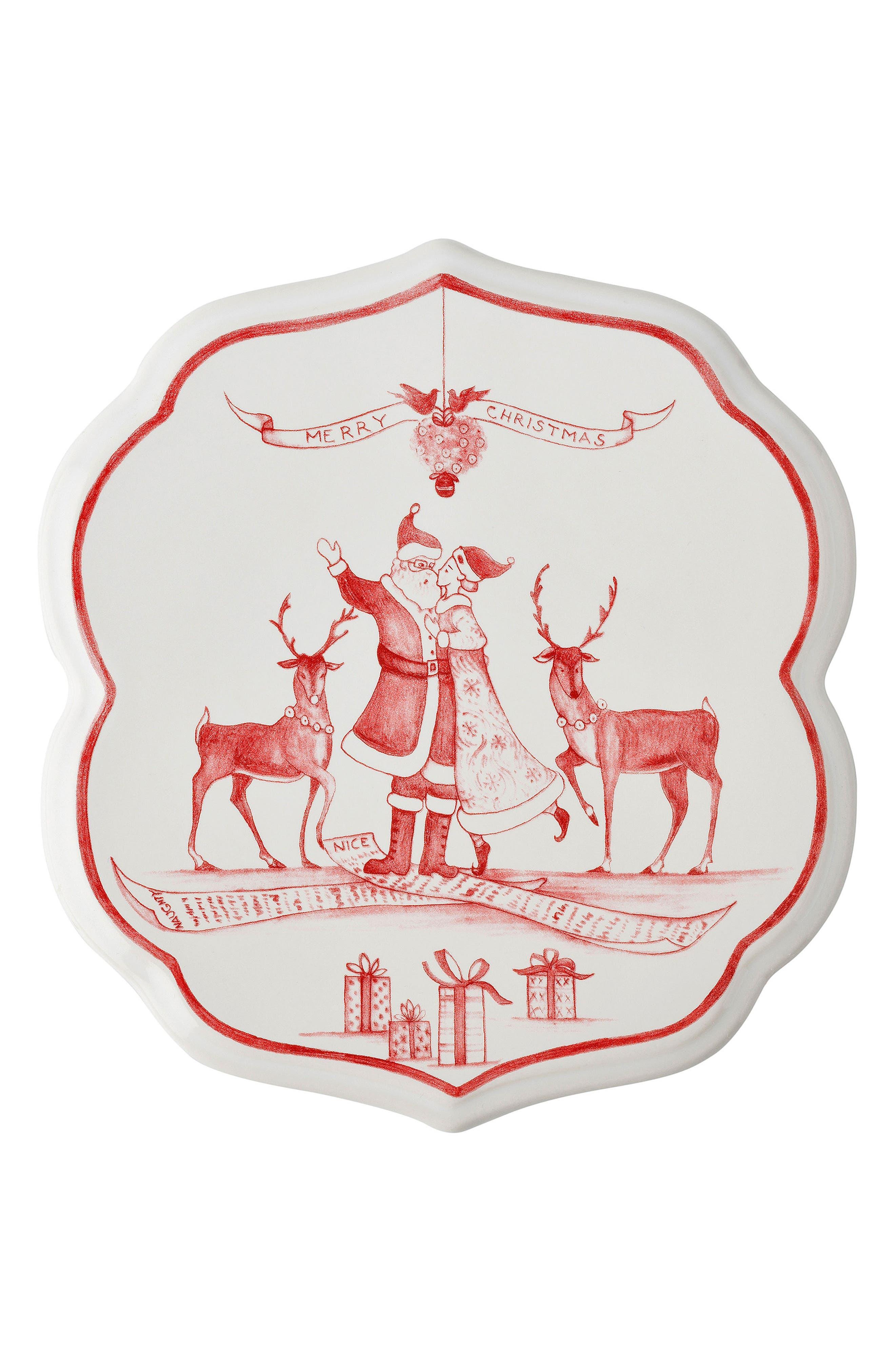 Juliska Winter Frolic Ceramic Trivet